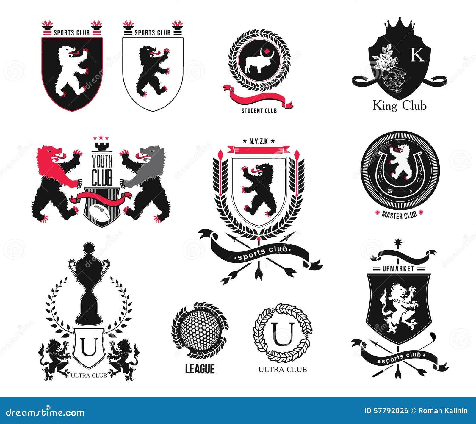 Placez la marque club de sports club dtudiant bouclier royal placez la marque club de sports club dtudiant bouclier royal hraldiques htel scurit pleine collection de logo de vecteur et lments de thecheapjerseys Images