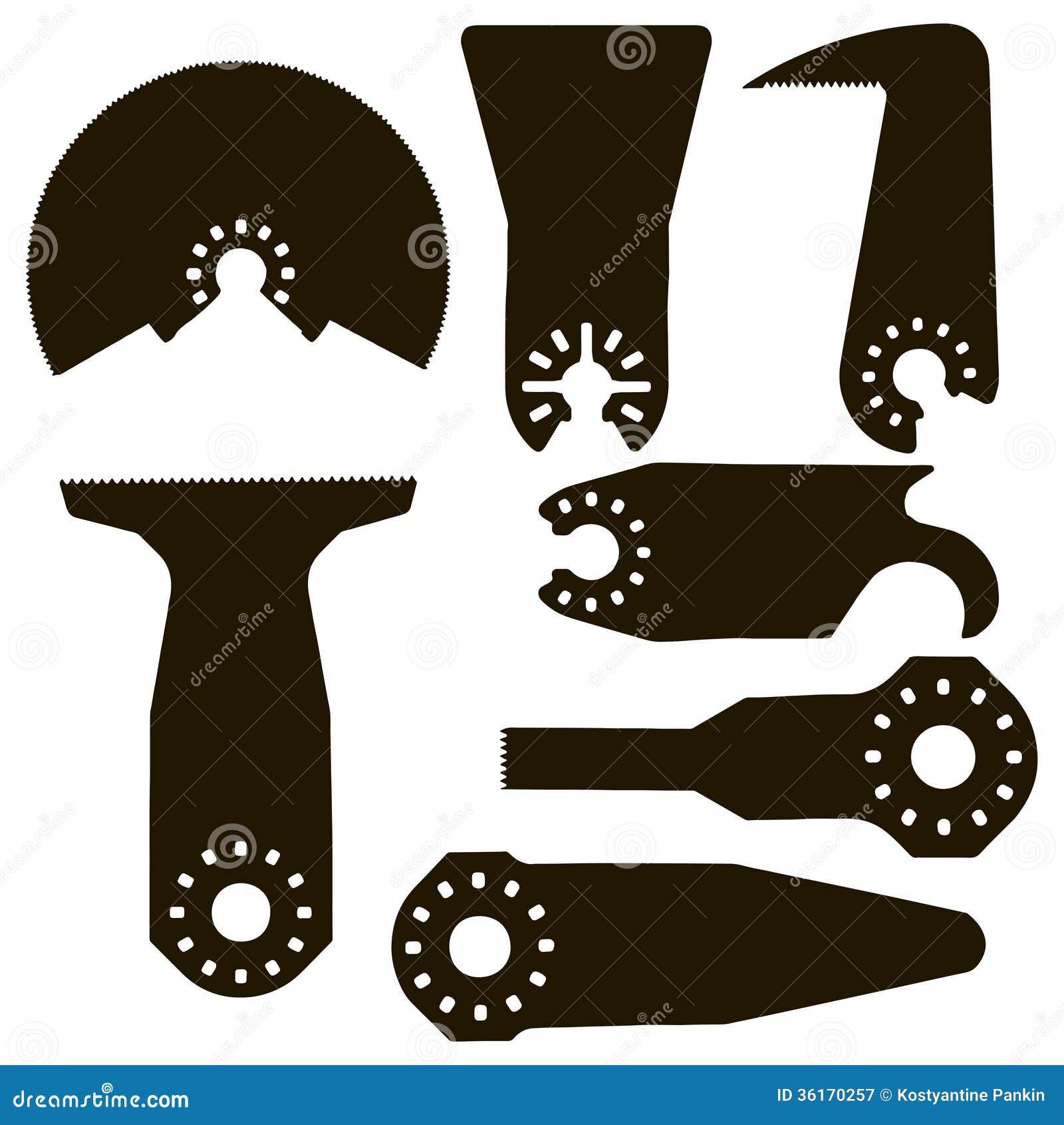 placez la scie électrique de scies illustration de vecteur