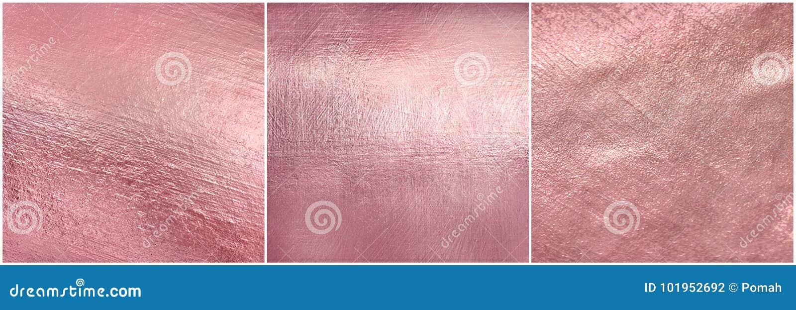 Placez la texture rose en métal d or Fond mou élégant d aluminium de Luxure
