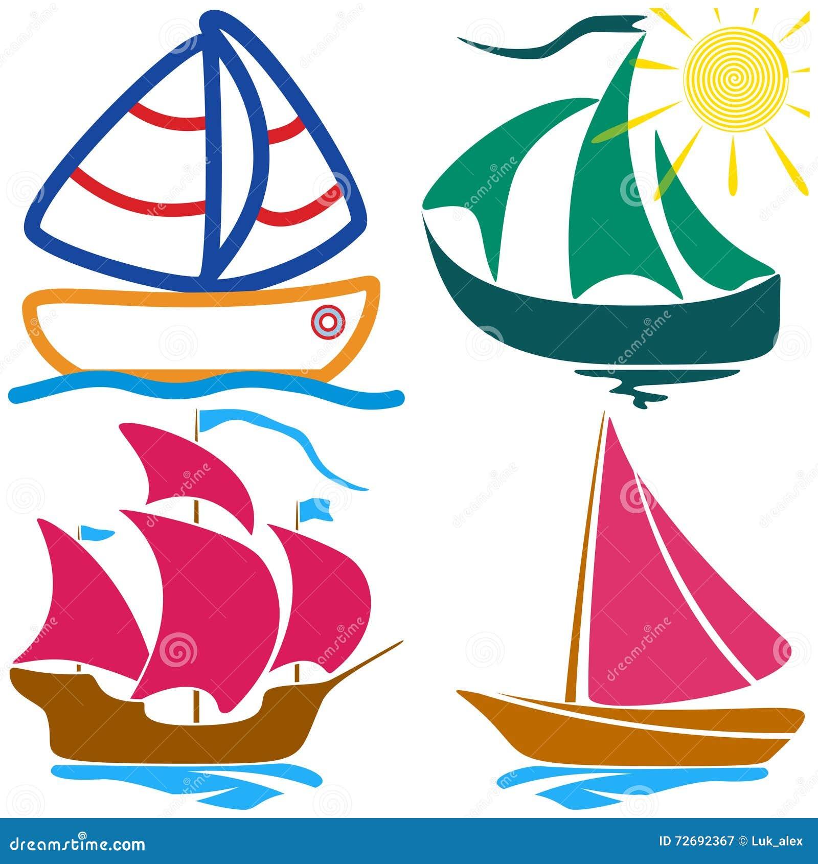 Placez le dessin enfantin de voilier illustration de vecteur illustration du nautique marin - Voilier dessin ...