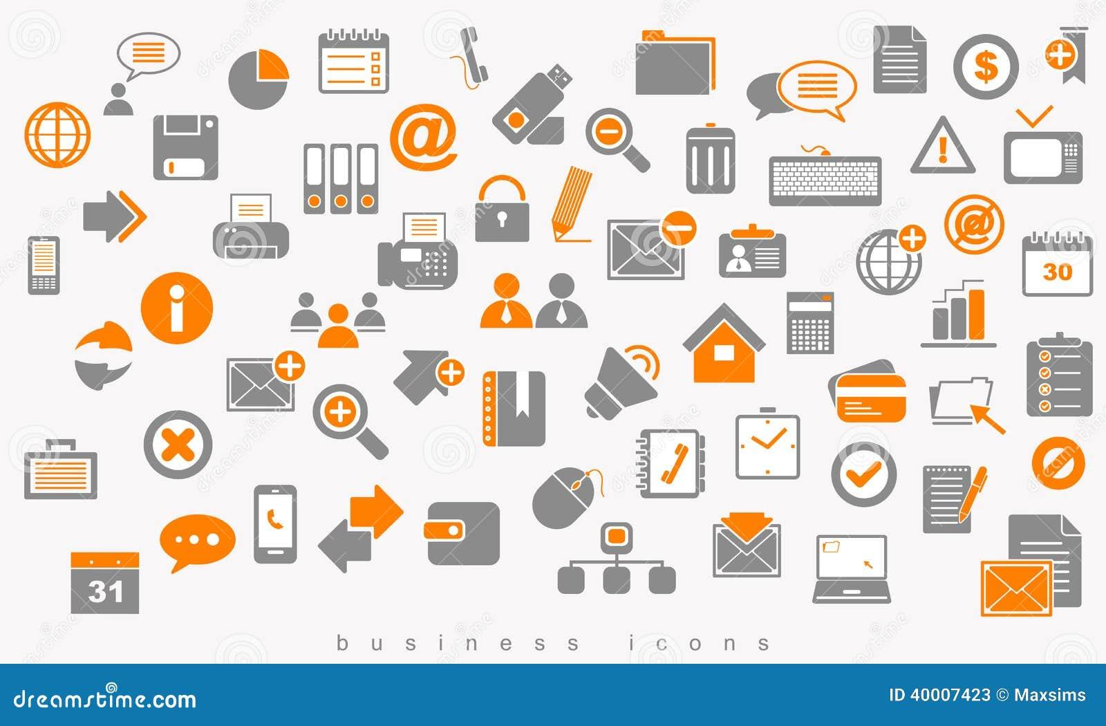 Placez le Web coloré de signe d affaires d icônes