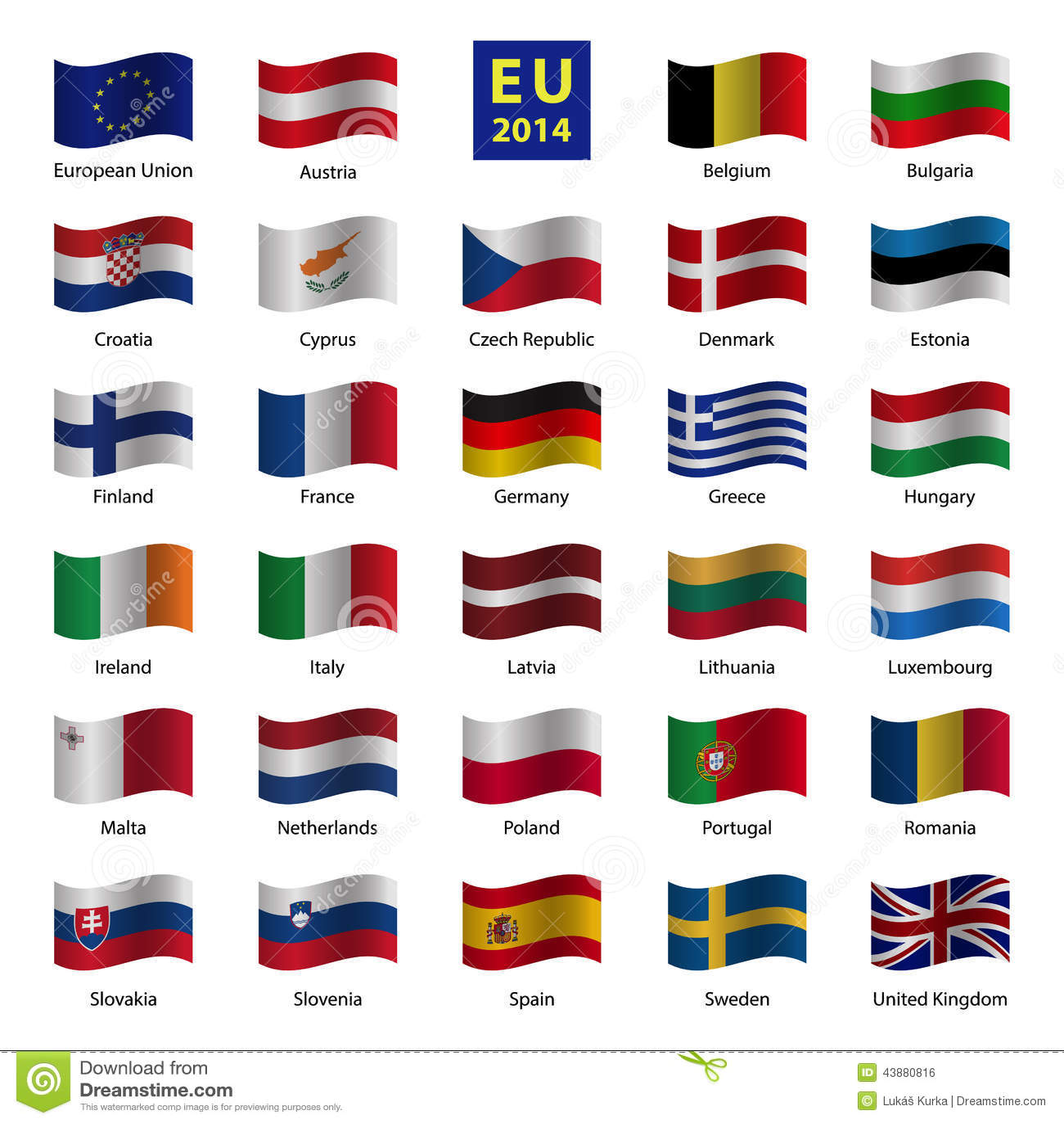 Populaire Placez Les Drapeaux De Pays De L'Union Européenne D'OD  EP04