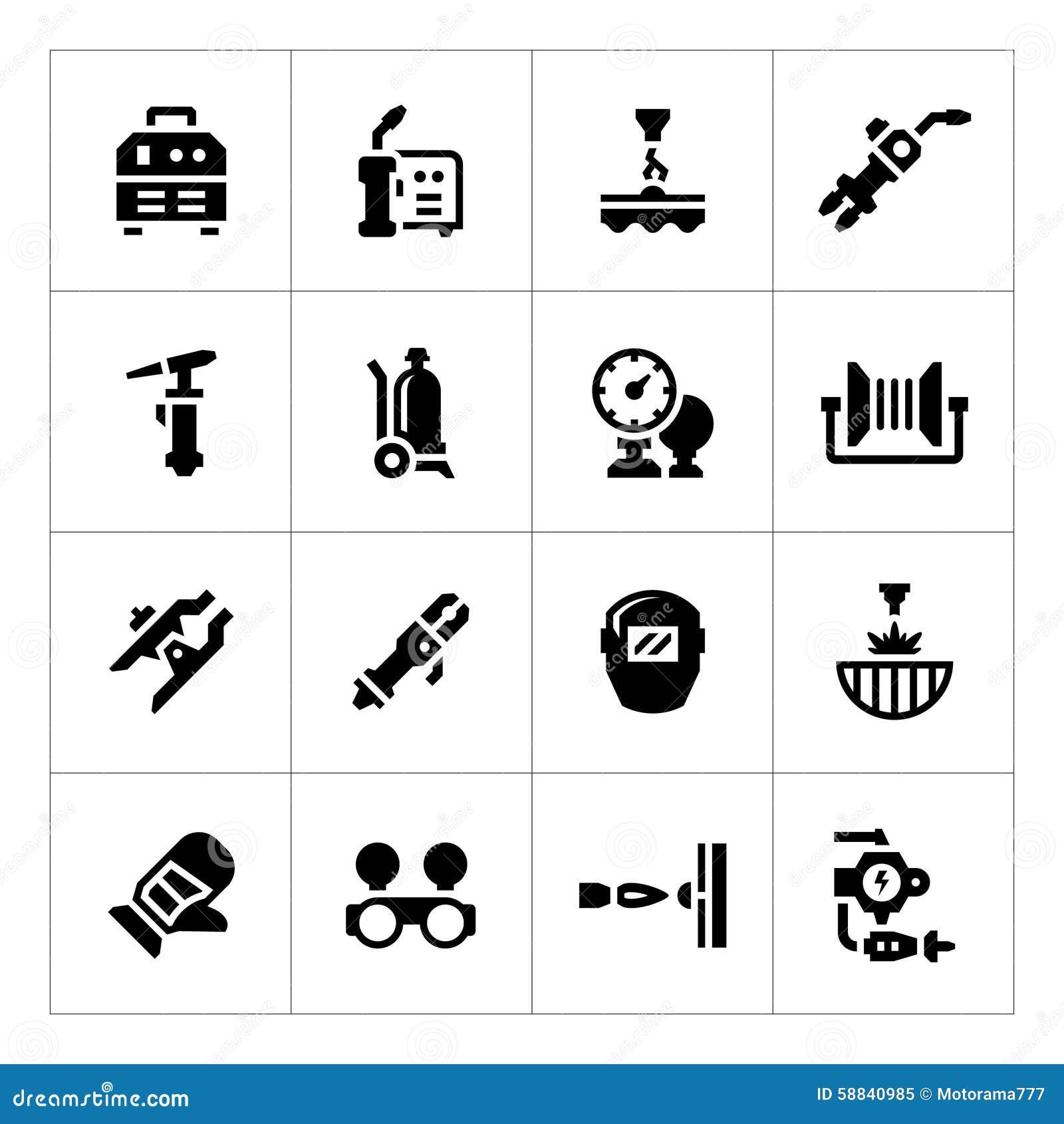 Placez les icônes de la soudure