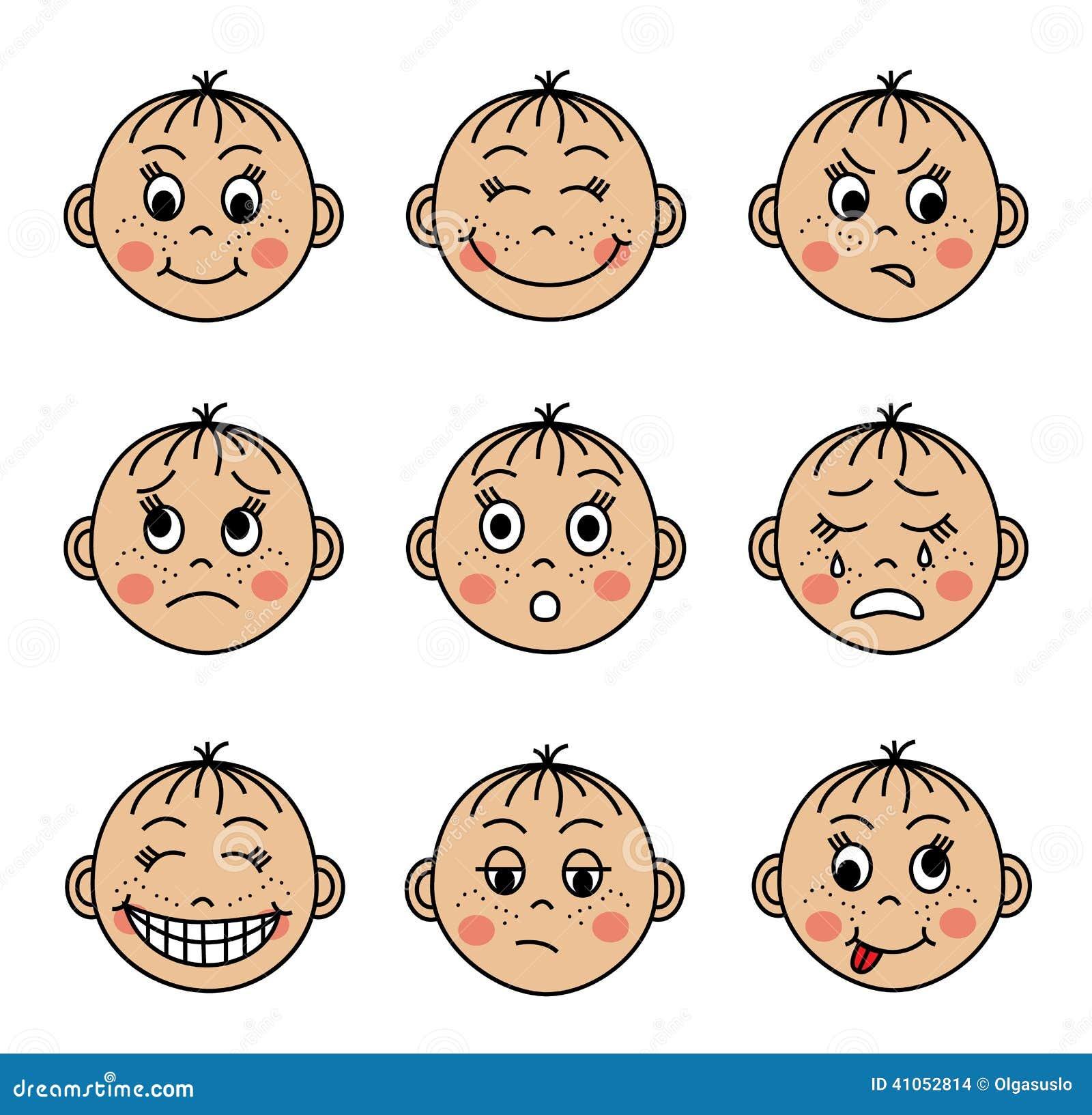 placez les visages des enfants avec diff u00e9rentes  u00e9motions clip art faces to paint clip art faces to paint