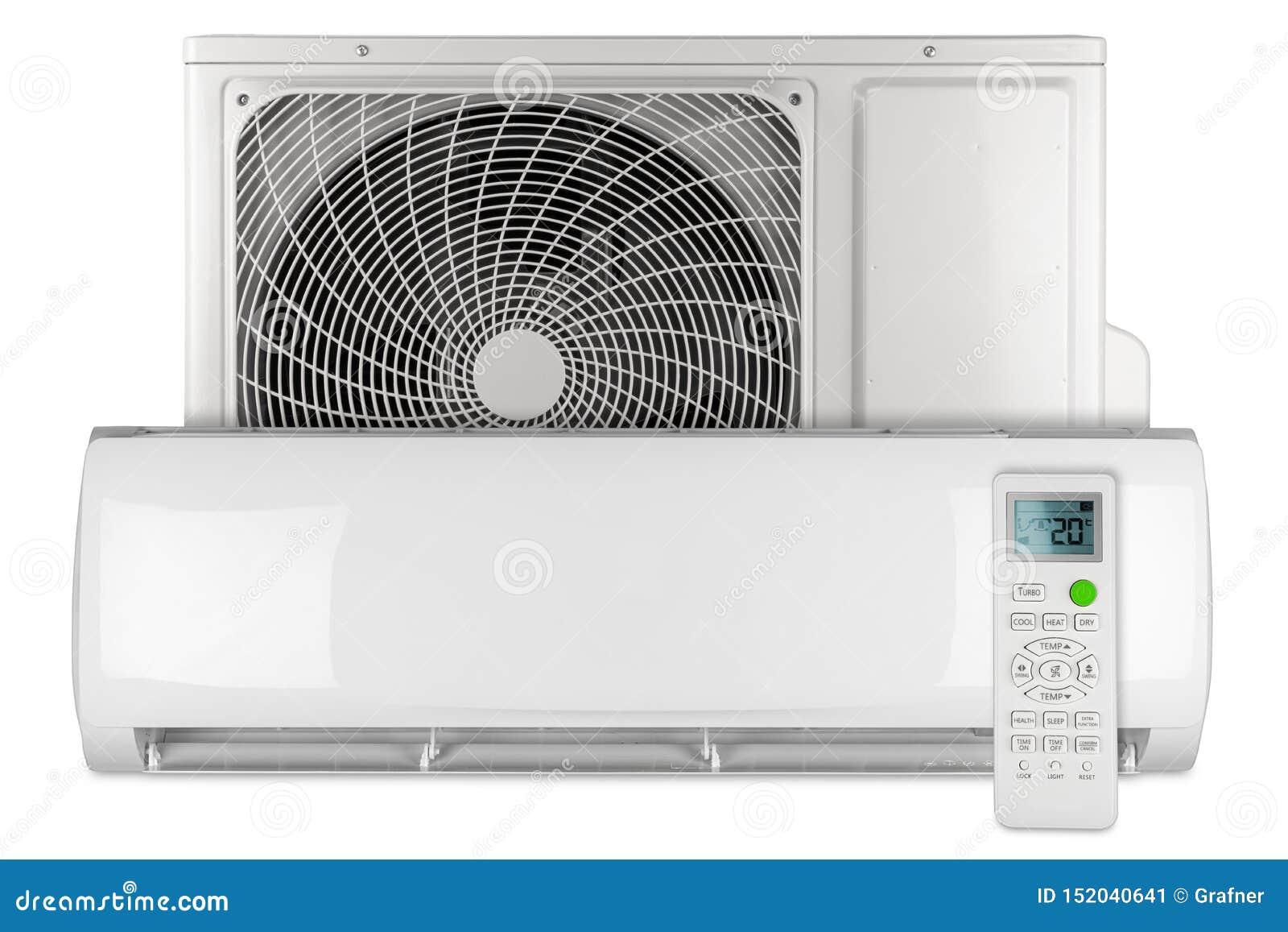 Placez système fendu de pompe à chaleur d inverseur à C.A. de climatiseur du mini avec l unité extérieure d intérieur et le blanc