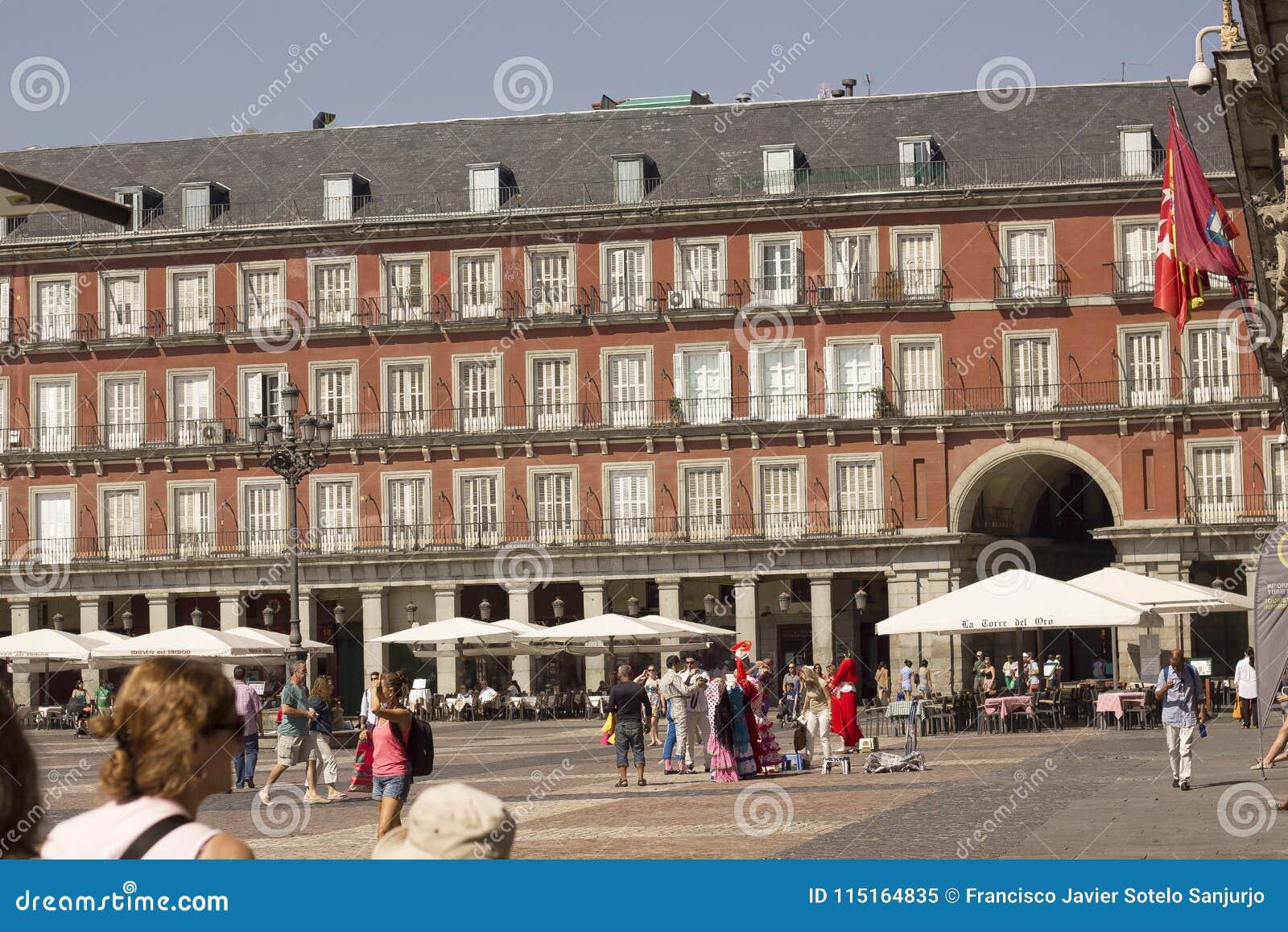 Placu real, Madryt Hiszpania, Sierpień, - 17, 2013