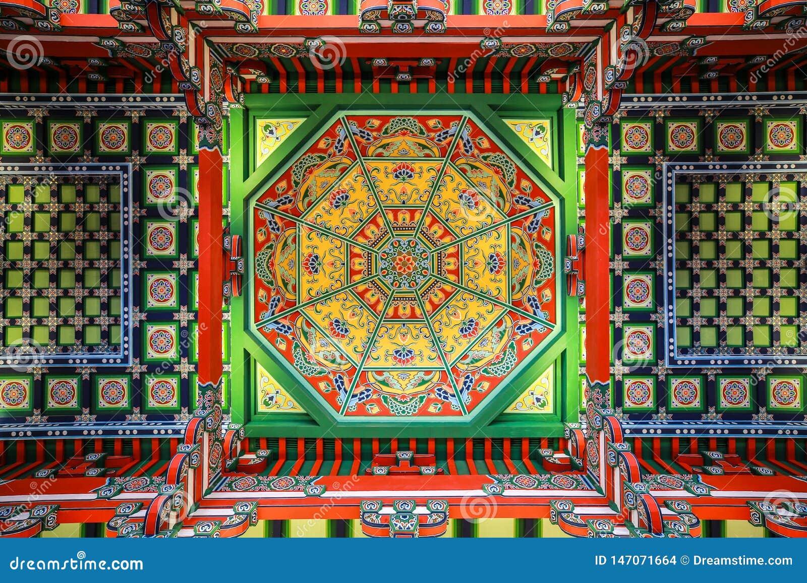 Plafond de caisson de musée de Nanjing