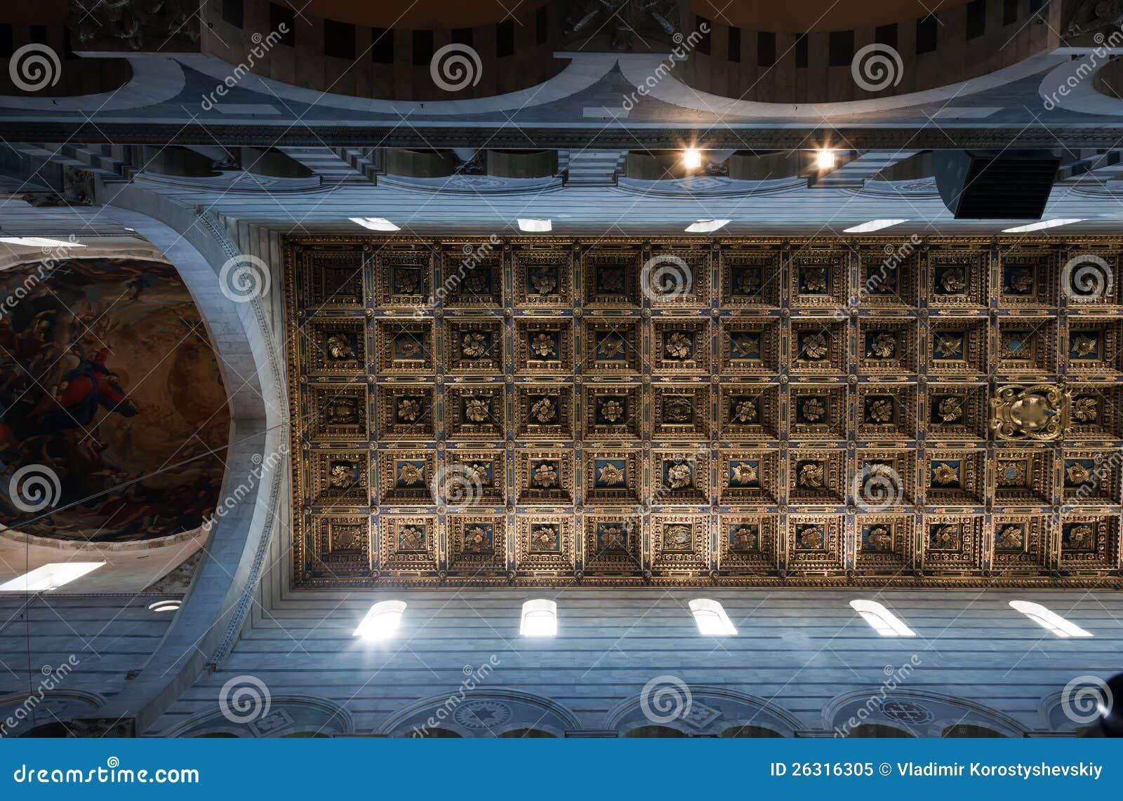plafond de cath drale de pise photo libre de droits. Black Bedroom Furniture Sets. Home Design Ideas