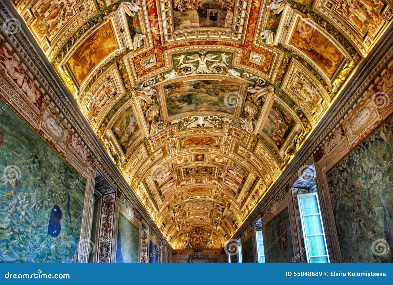 Plafond De Mus 233 E De Vatican Photo Stock Image 55048689 border=
