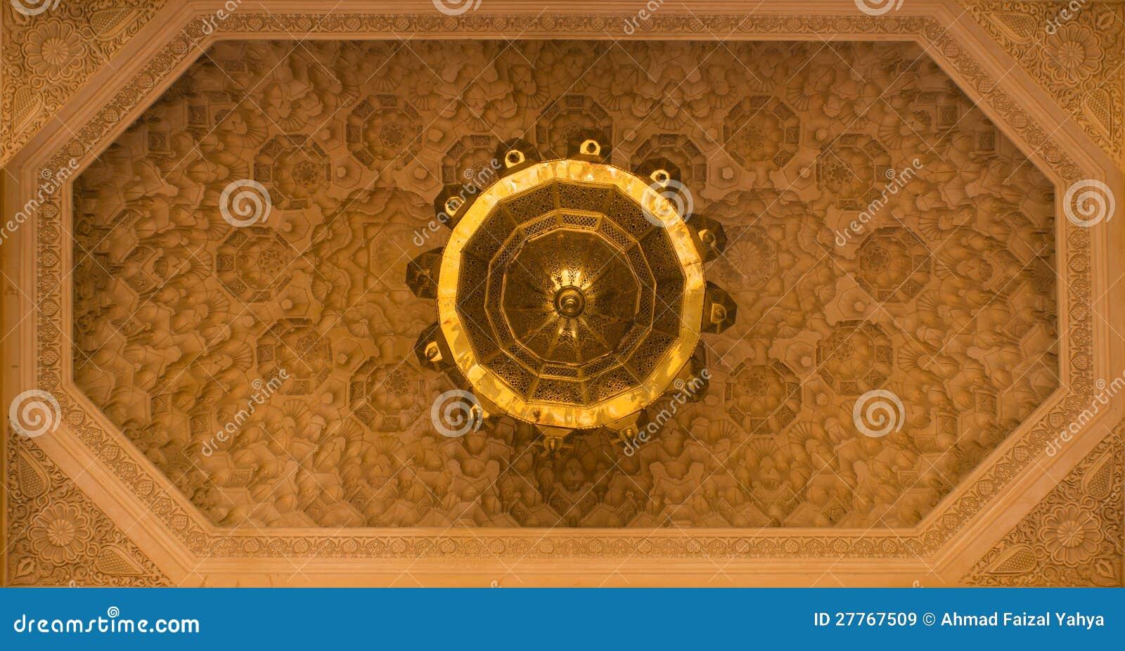 Plafond decoratie royalty vrije stock afbeeldingen afbeelding 27767509 - Marokkaanse design decoratie ...