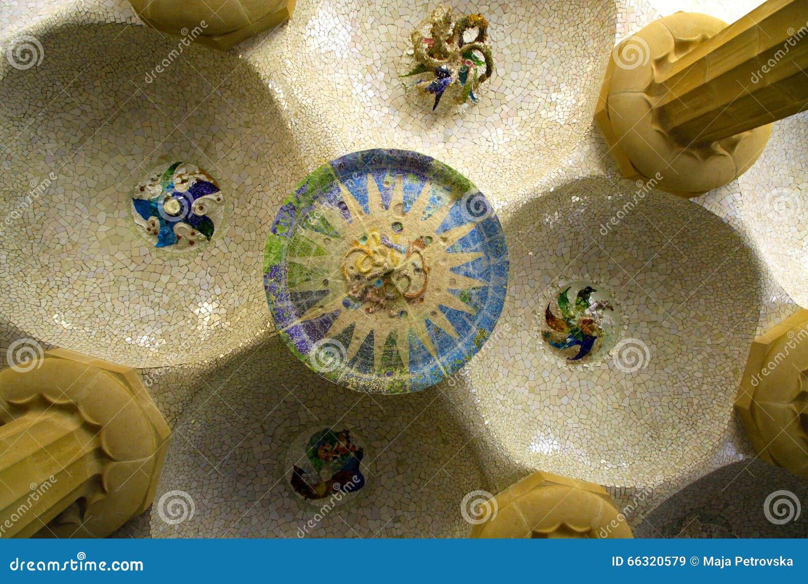 Plafond en parc Guell