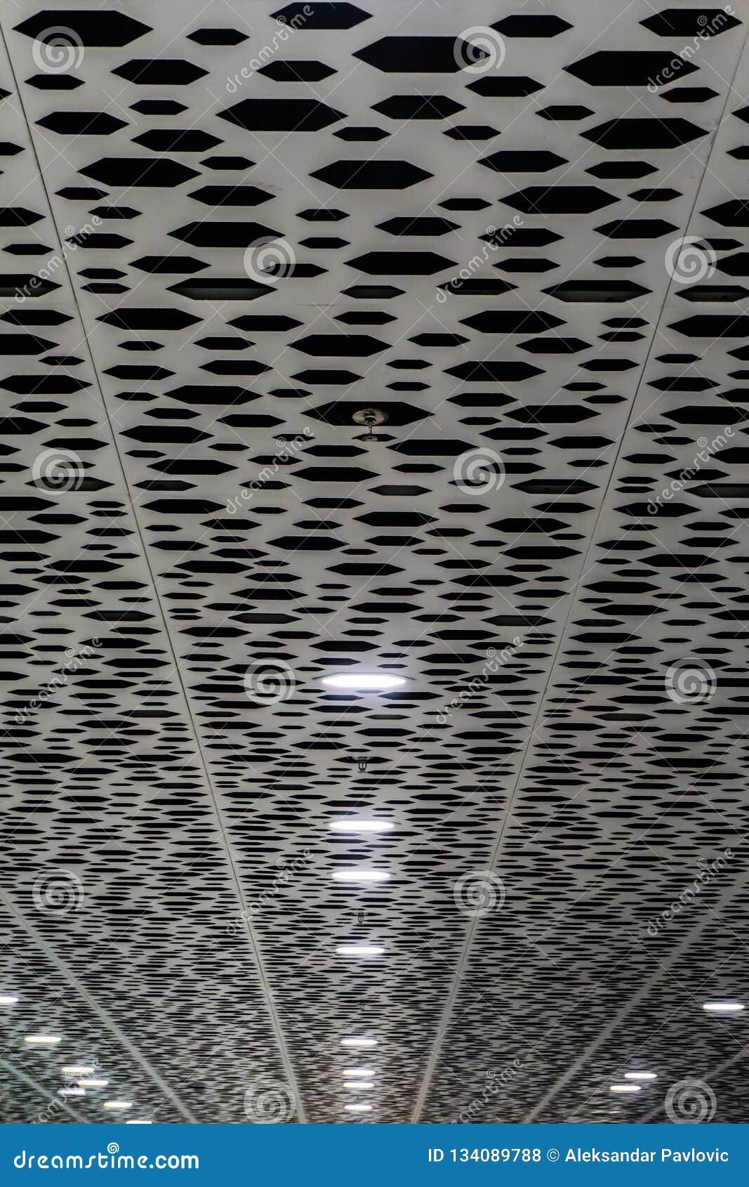 Plafond intérieur d aéroport