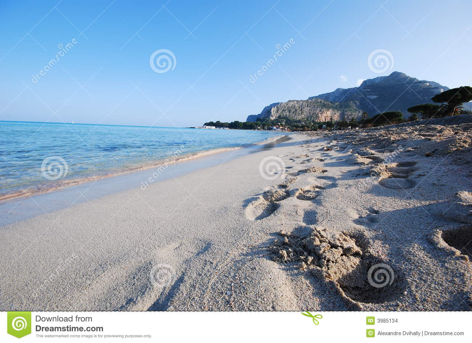 Plage côtière - Sicile