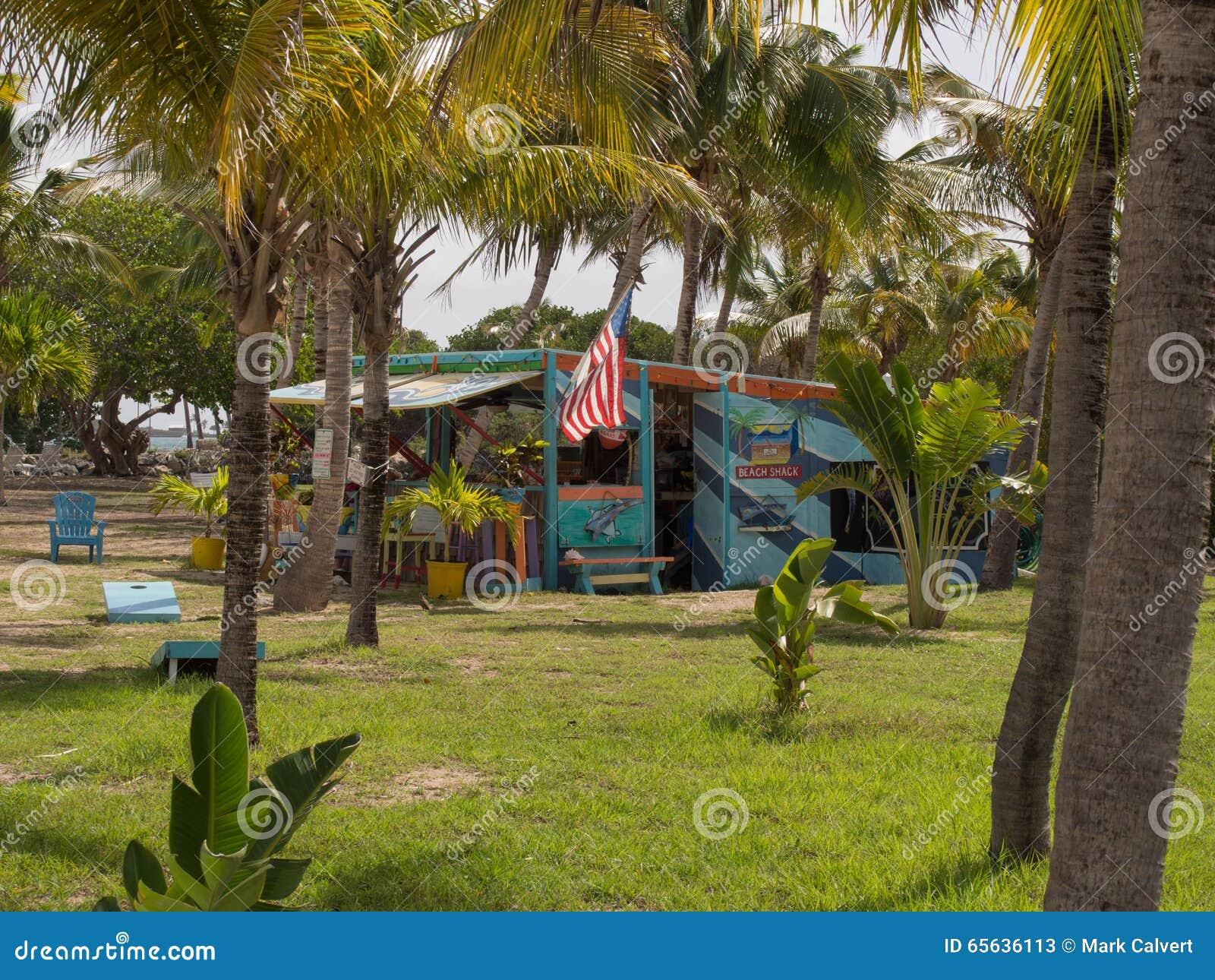 Plage colorée Shack dans St Croix