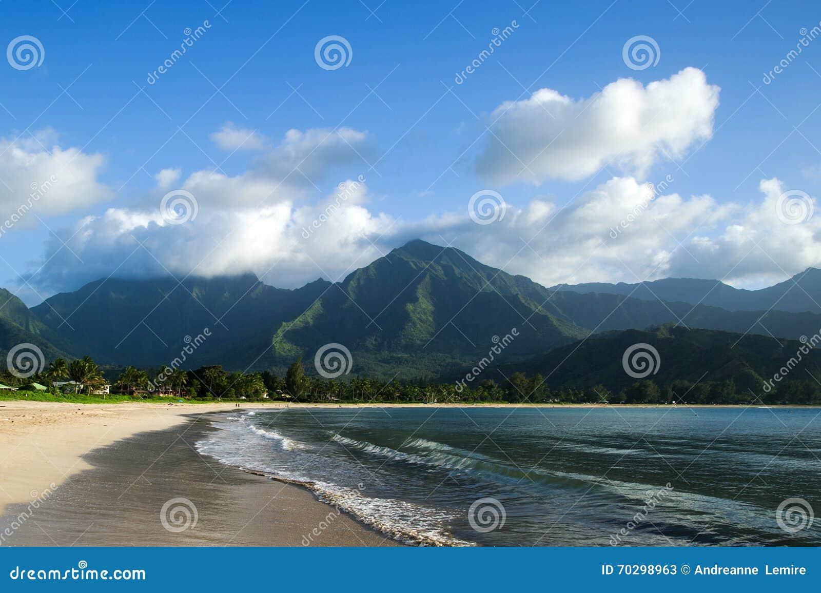 Plage de Hanalei, Kauai, Hawaï