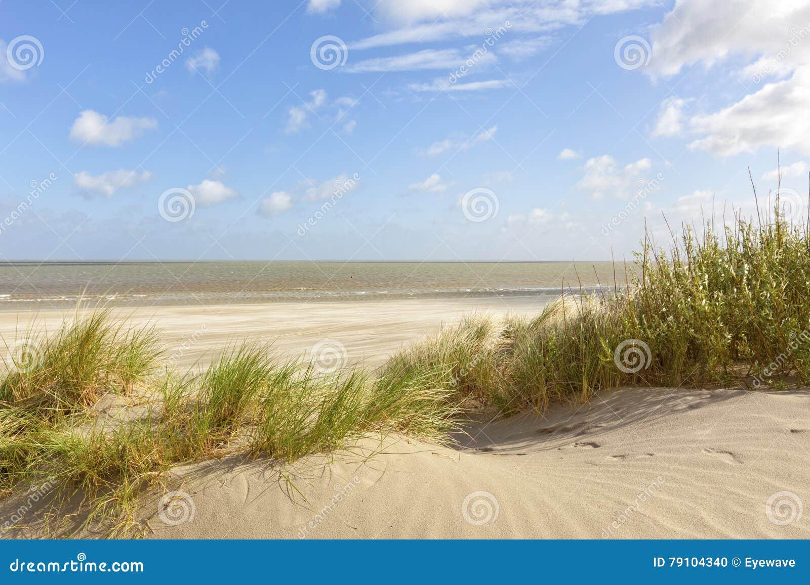 Plage De La Mer Du Nord De Belge Au Knokke Cambriolage