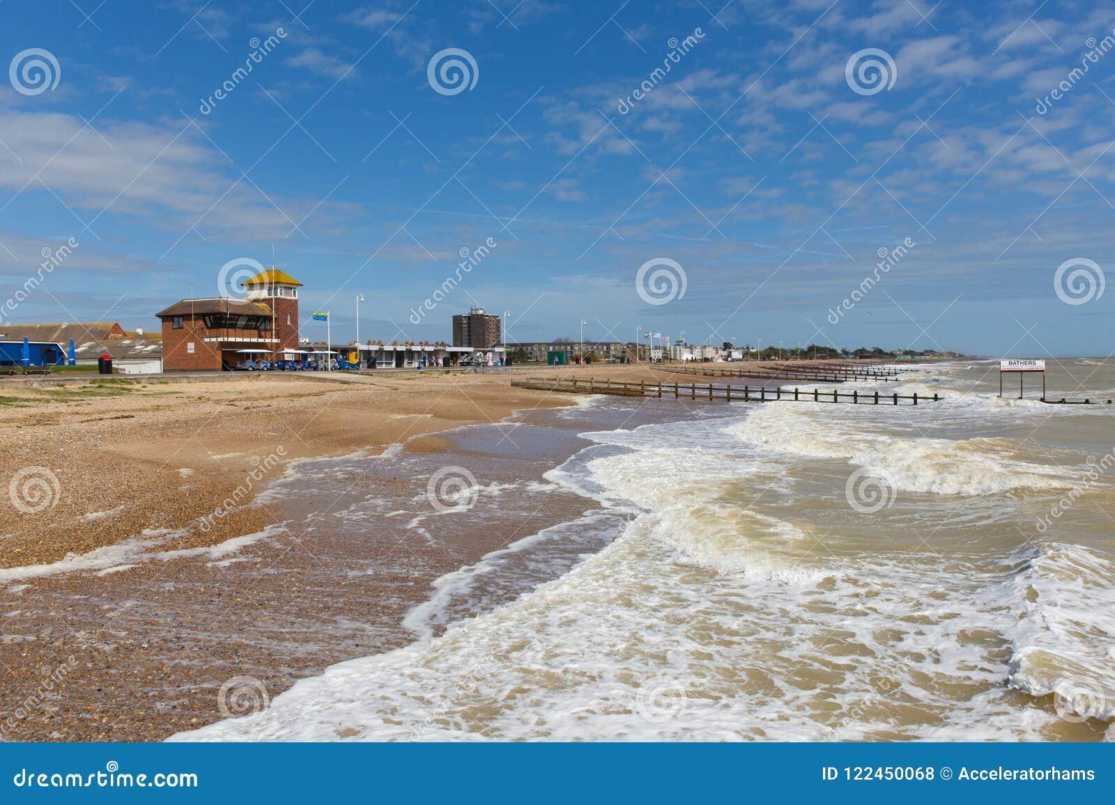 Cote Sud Angleterre plage de littlehampton et côte sud britannique le sussex occidental