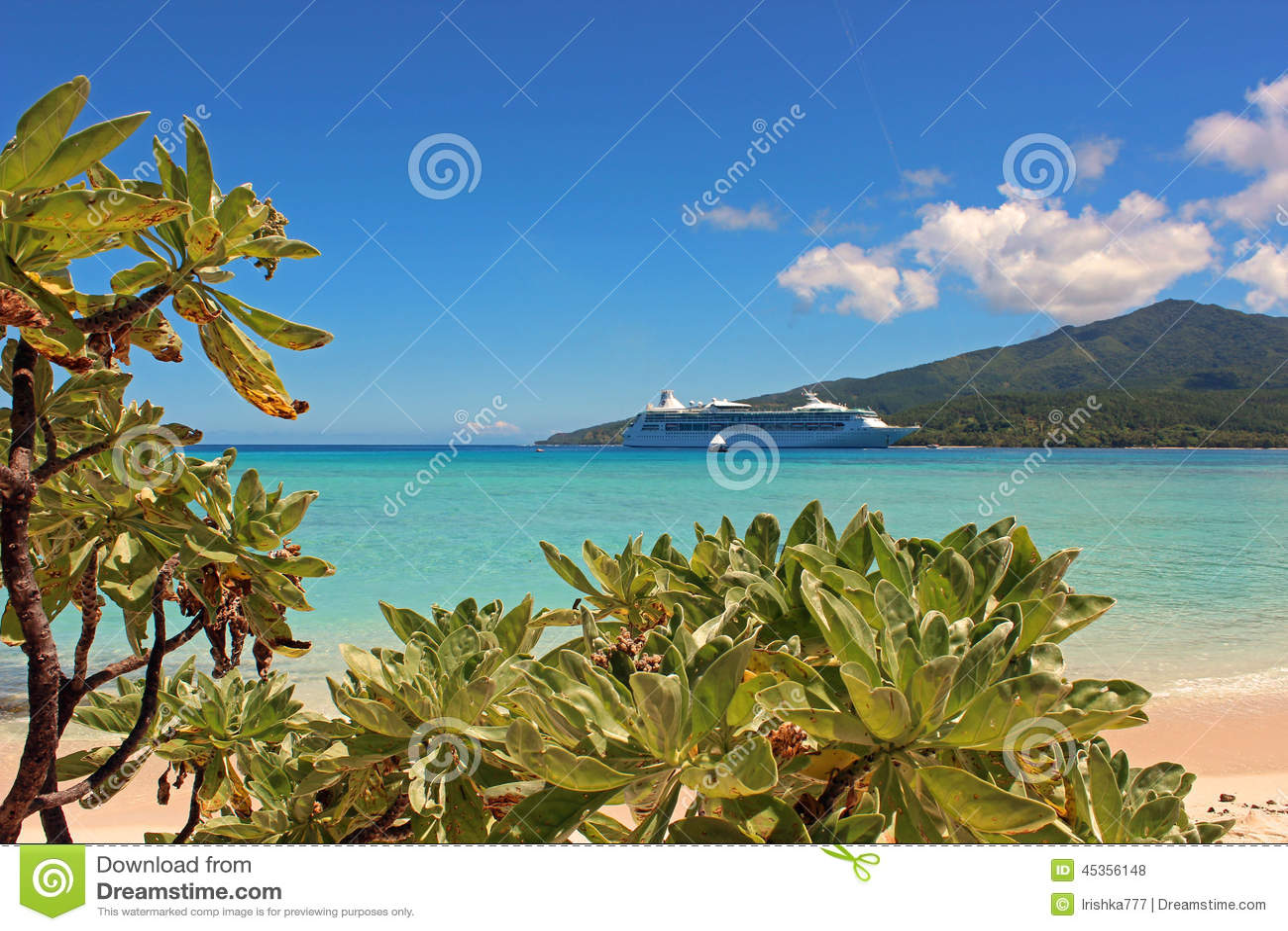 Plage de paradis en île de mystère, Vanuatu, South Pacific