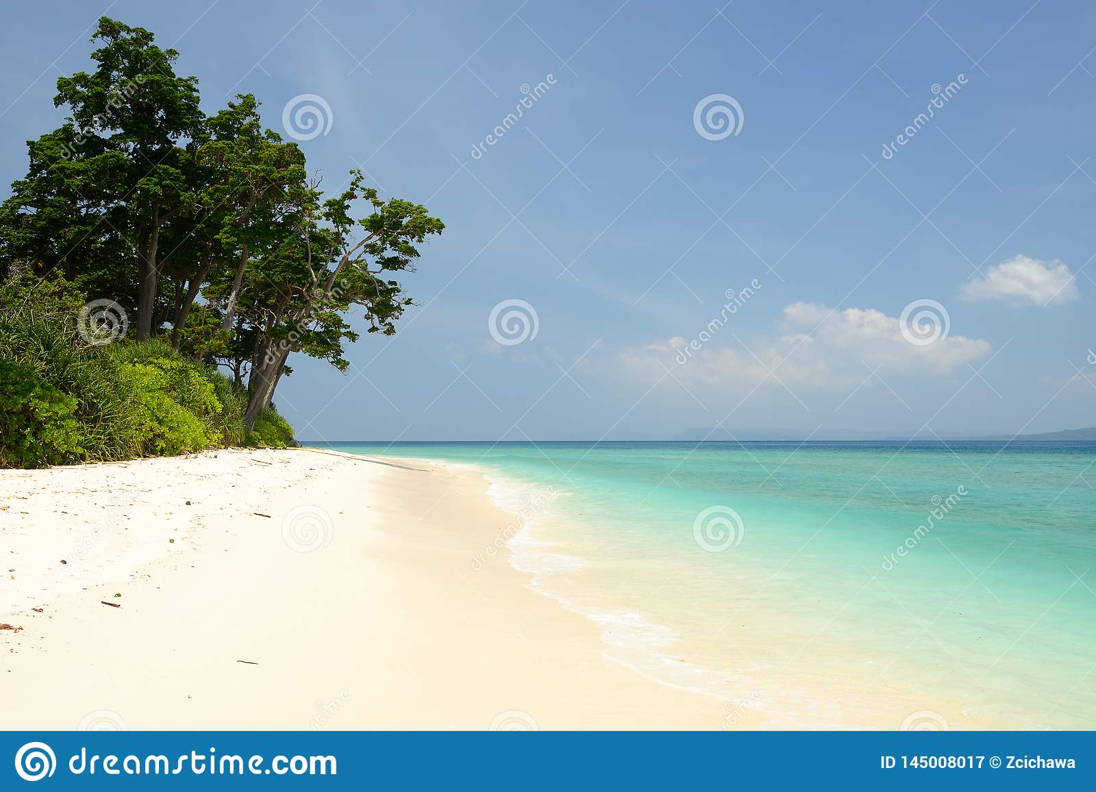 Plage de Paradise à l île d Andaman et de Nicobar, Inde