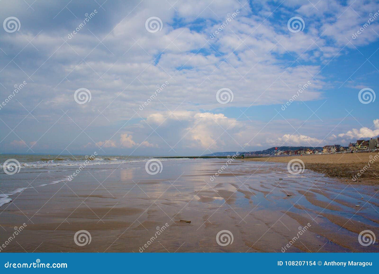 Plage de Trouville à marée basse