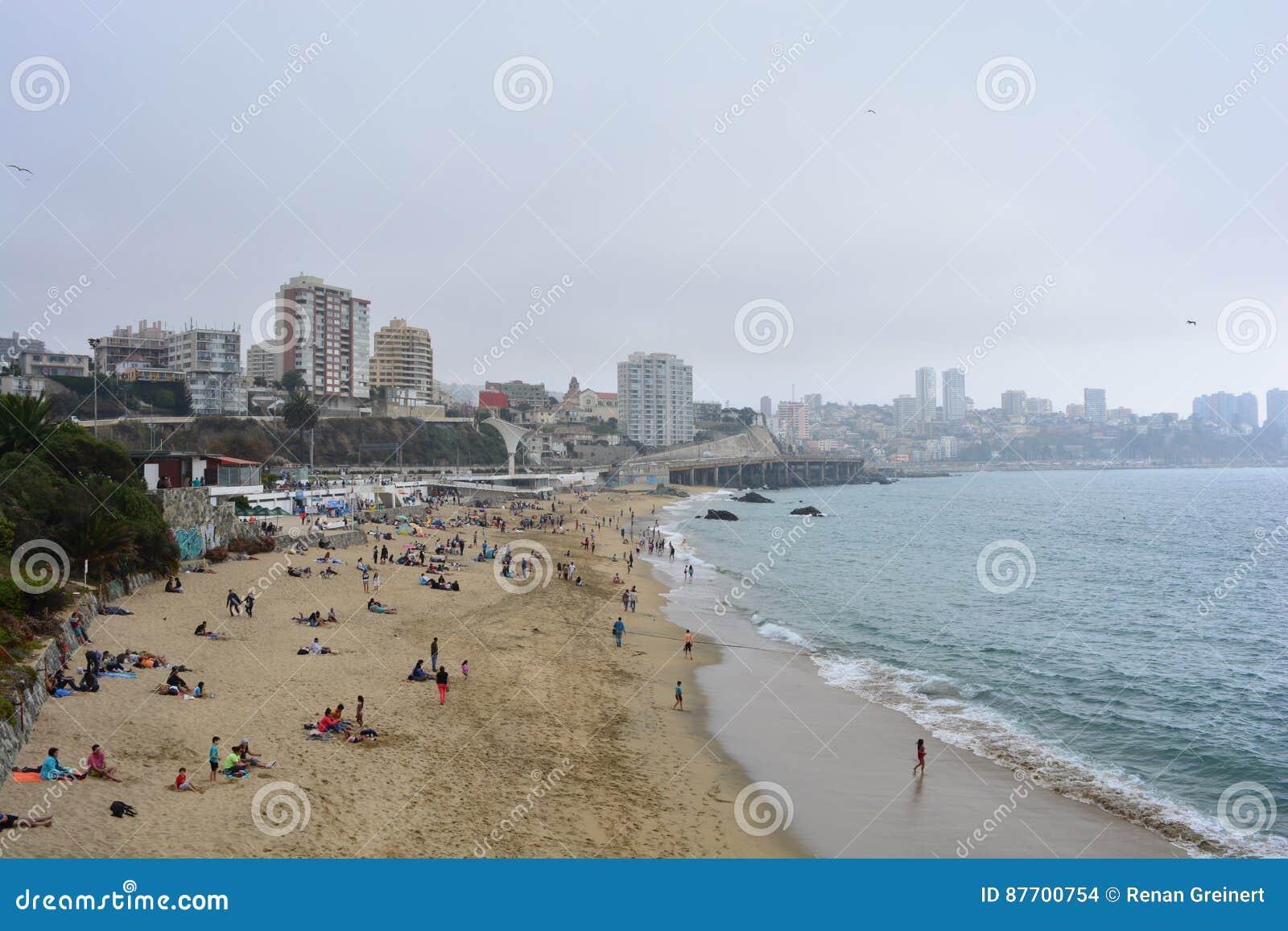 Plage de Viña Del Mar, Chili
