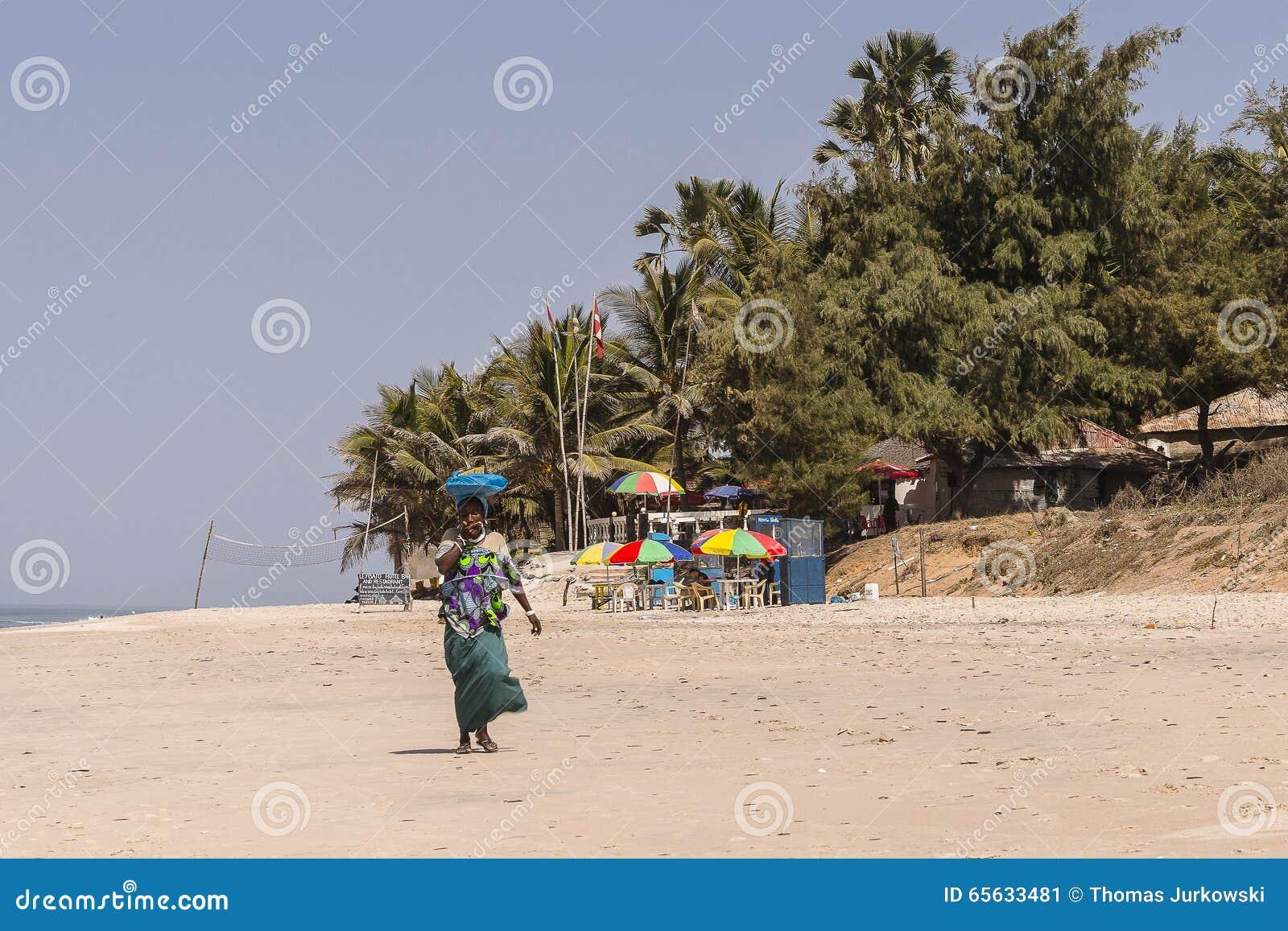 Plage en Gambie