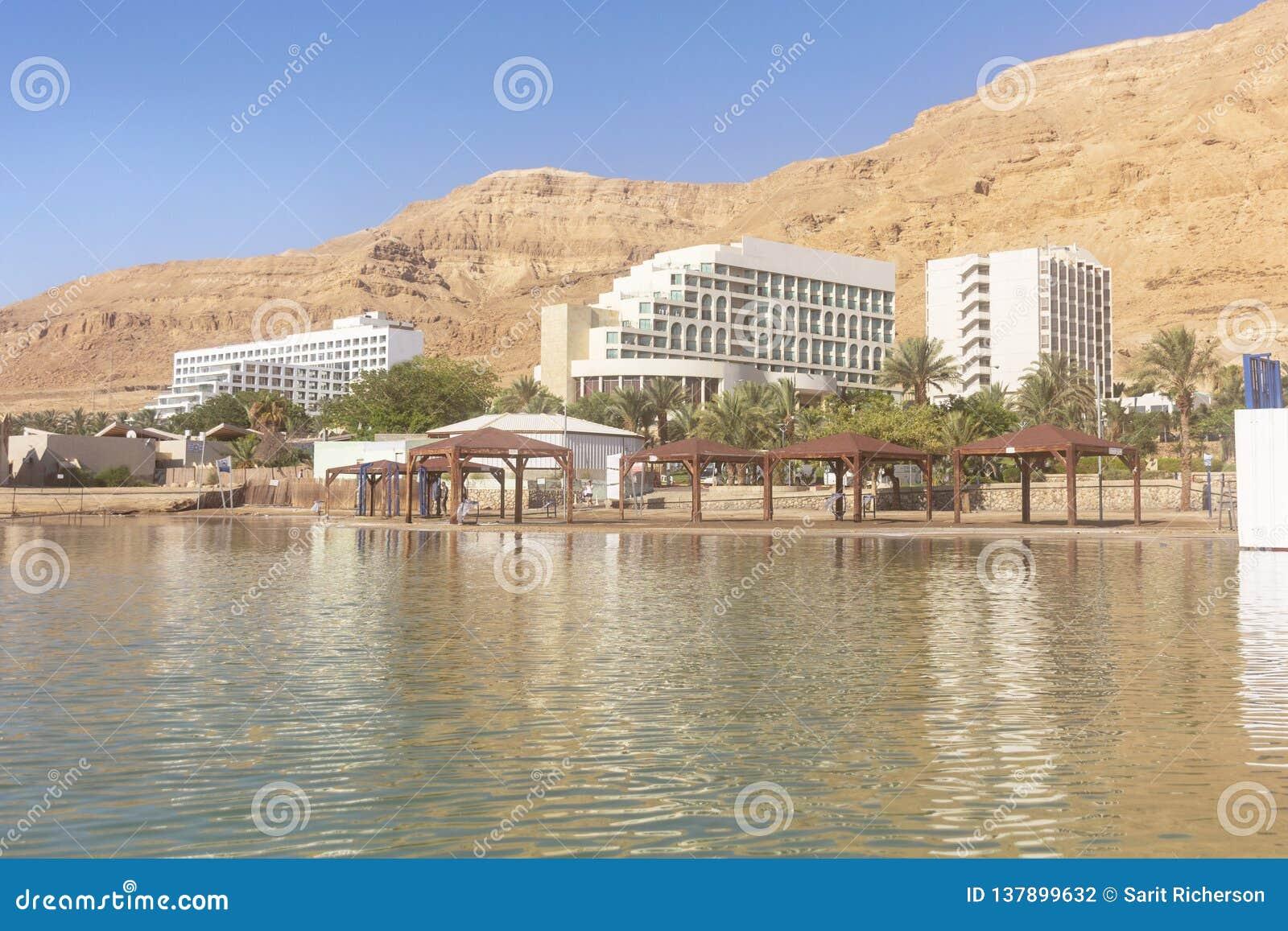 Plage et hôtels de tourisme de mer morte dans Ein Bokek