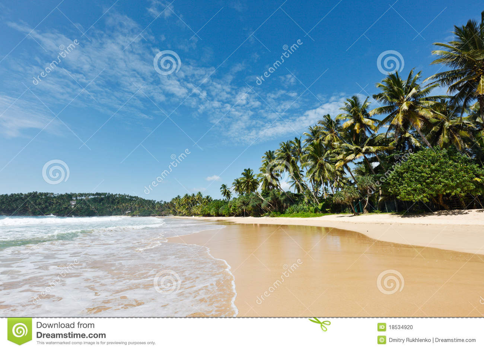 Plage idyllique. Le Sri Lanka