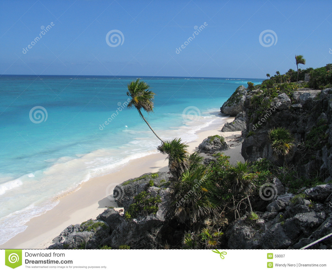 Download Plage mexicaine image stock. Image du paume, tropical, océan - 59007