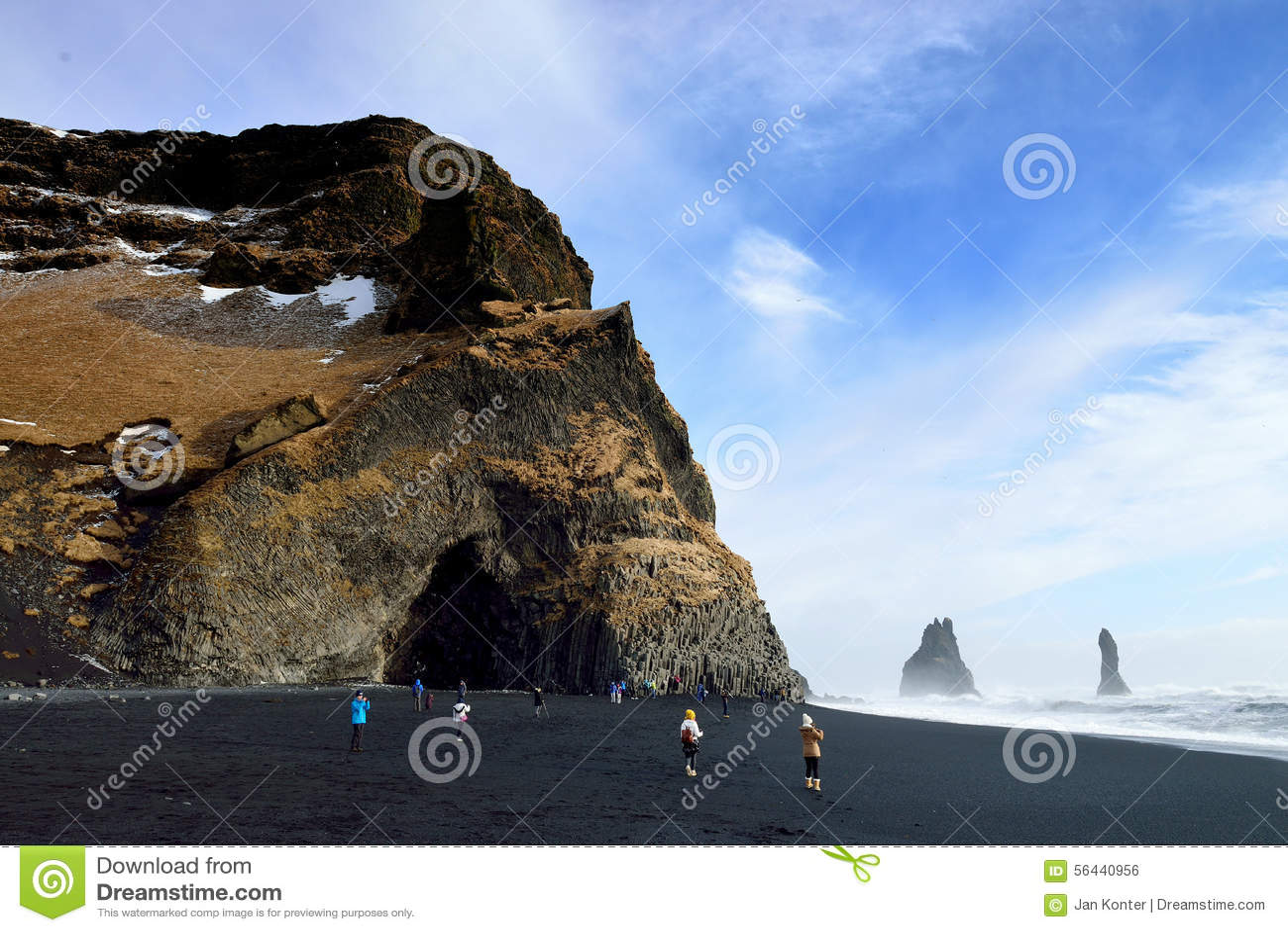 Plage noire, Vik, Islande