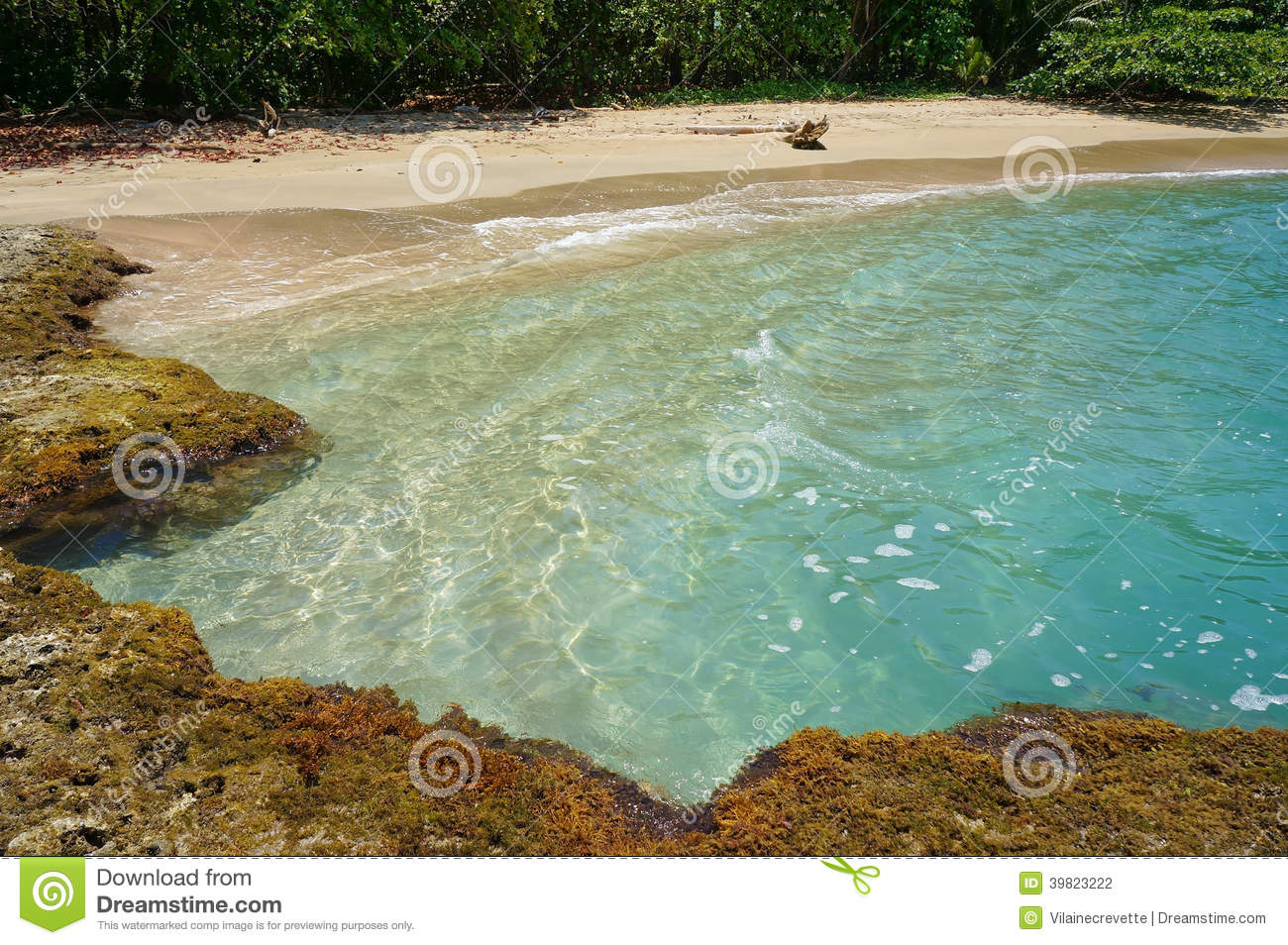 Plage Tropicale Avec La Piscine Naturelle Photo Stock