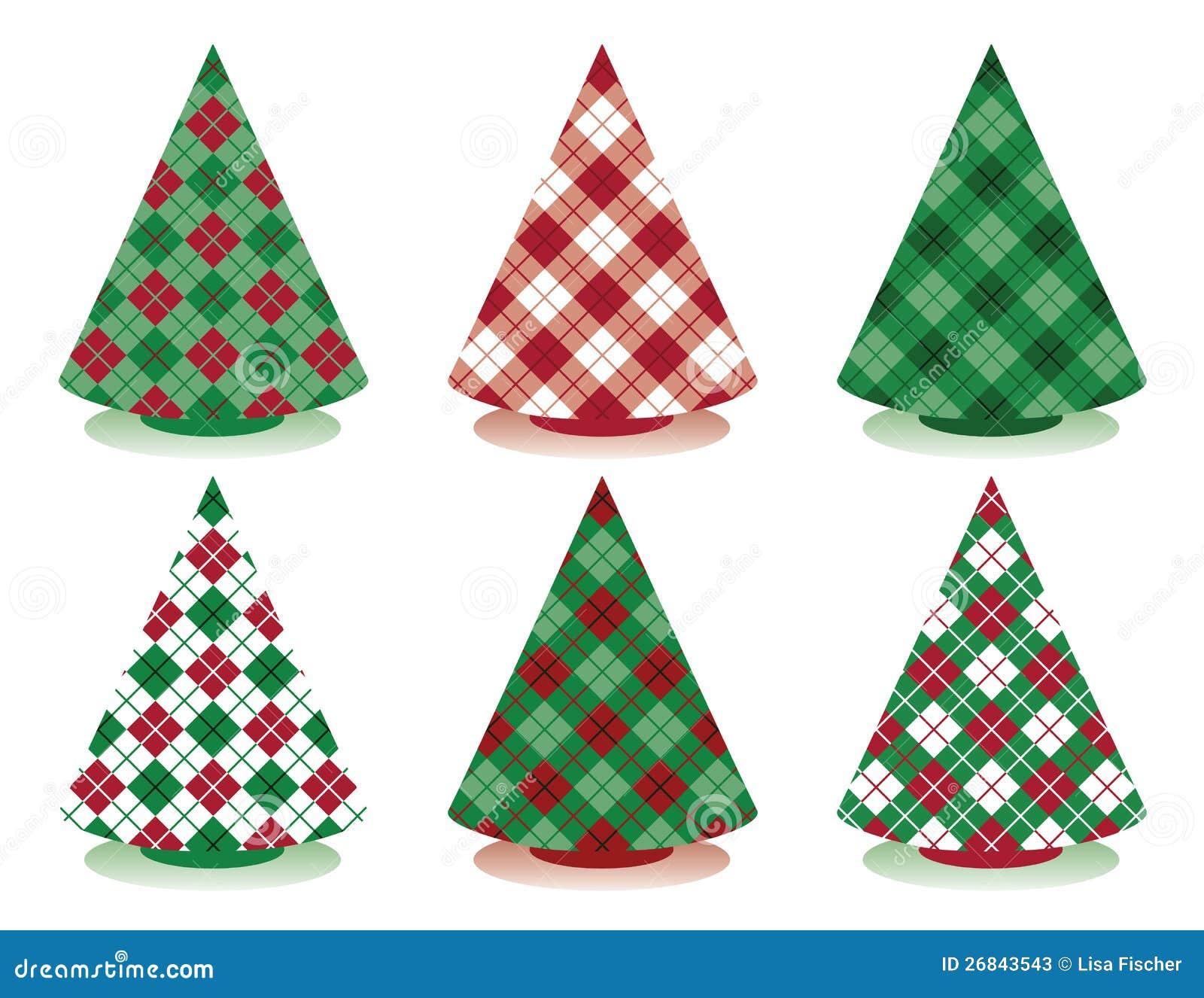 Plaid Christmas Tree Plaid Christmas Trees Stock Photos Image 26843543