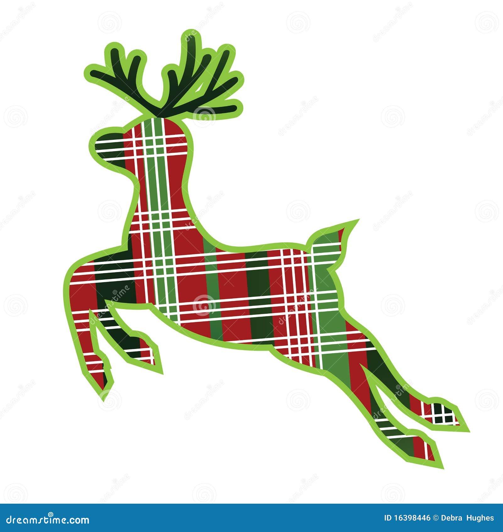 Plaid Fabric Reindeer Royalty Free Stock Image Image