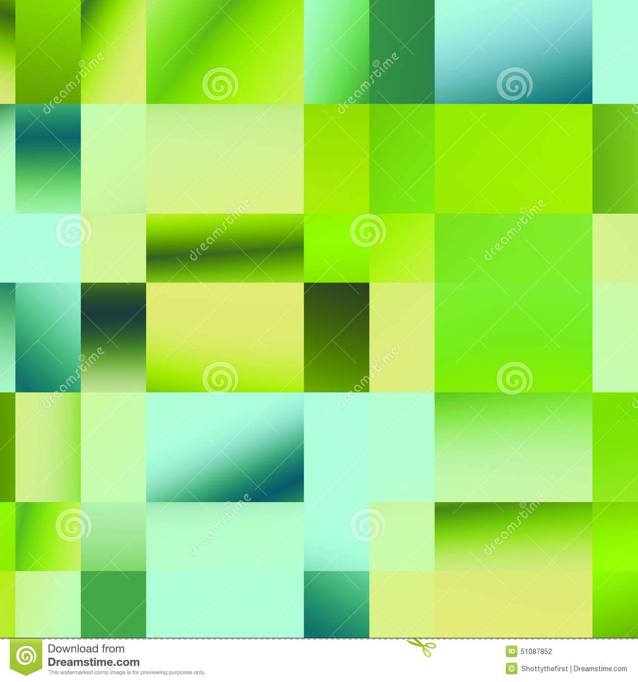 Plaid Green Pattern. Abstract Geometric Background. Colored Mosaic Illustration. Polygonal Design Elements. Different Shapes.