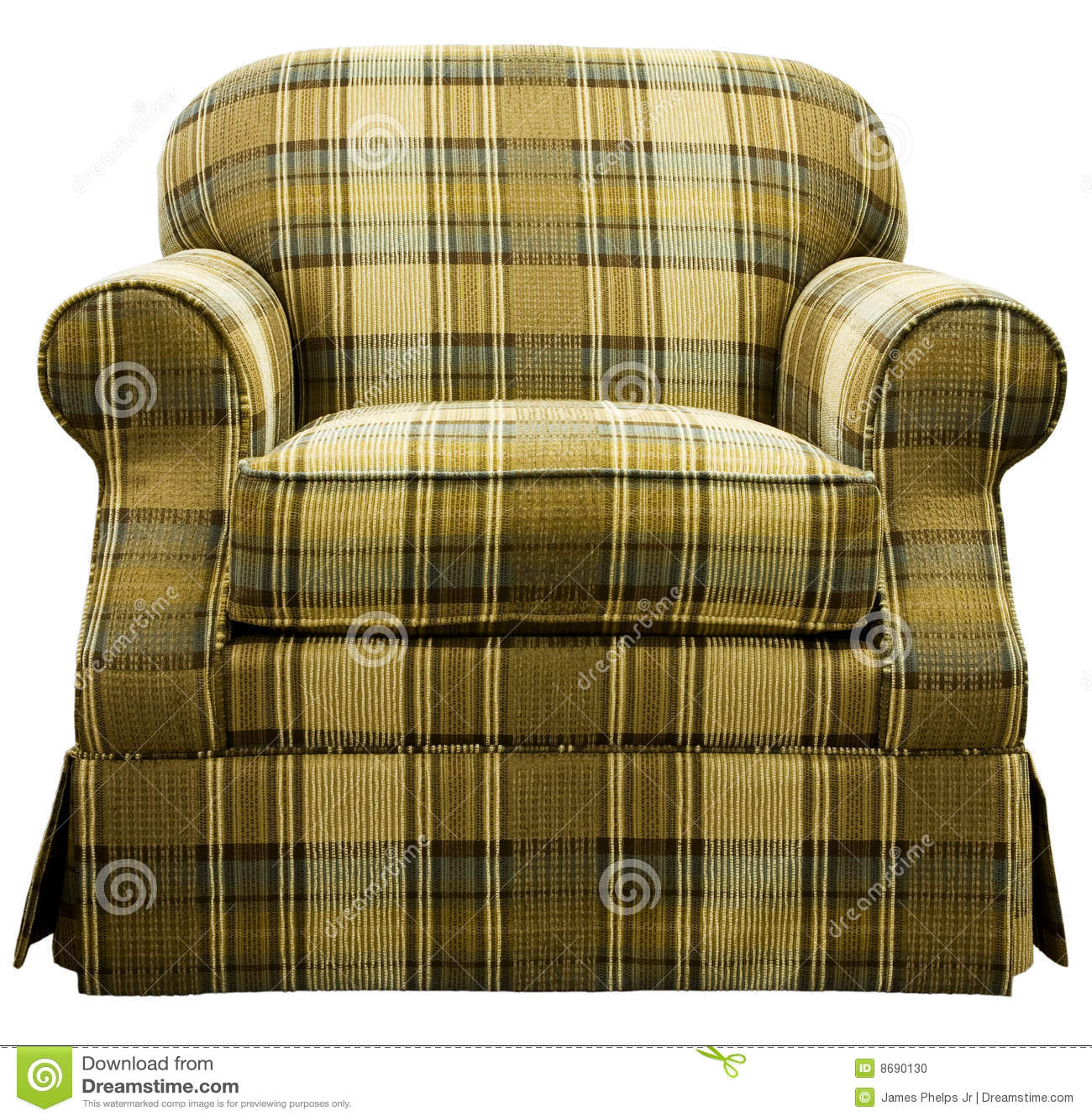 Plaid Living Room Furniture Plaid Living Room Chair Stock Photo Image 8690130