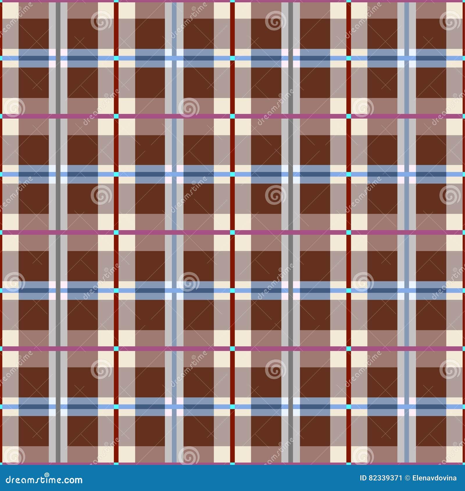 Plaid, naadloos bruin patroon, vector