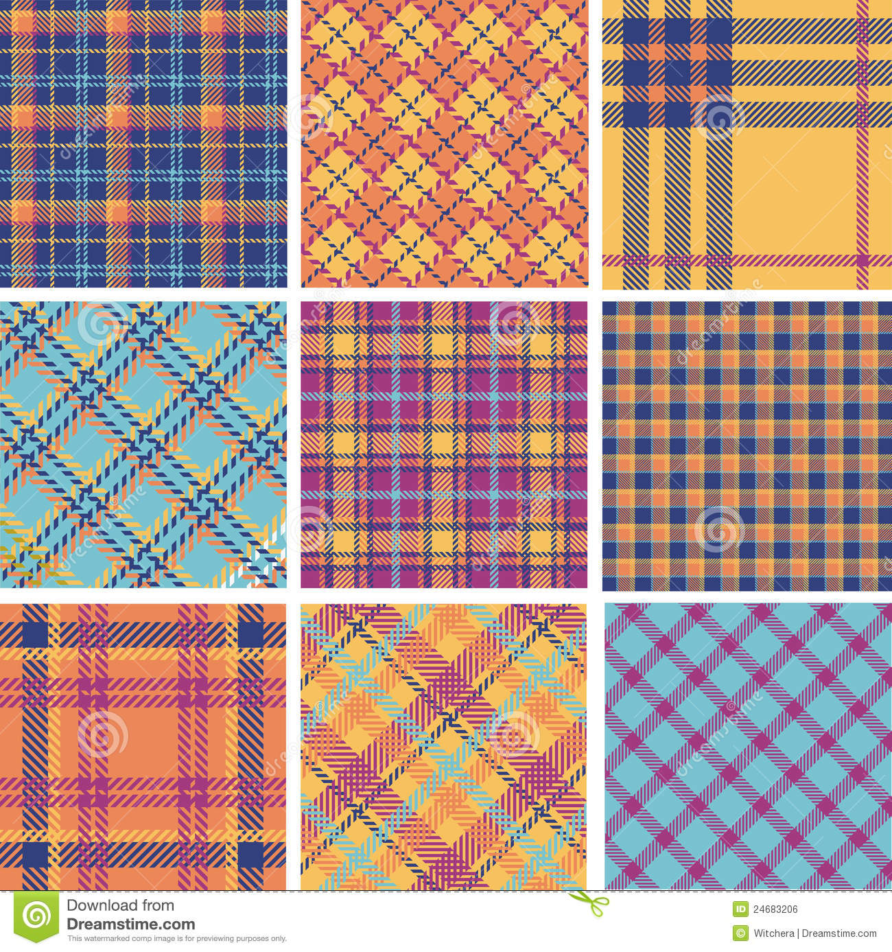 How To Draw Tartan Patters