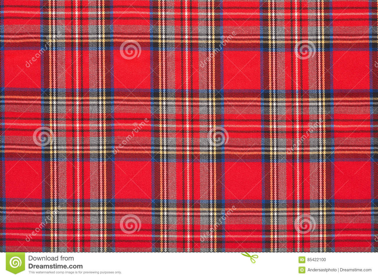 Plaid rouge fond cossais carreaux de tissu photo stock for Tissu a carreaux