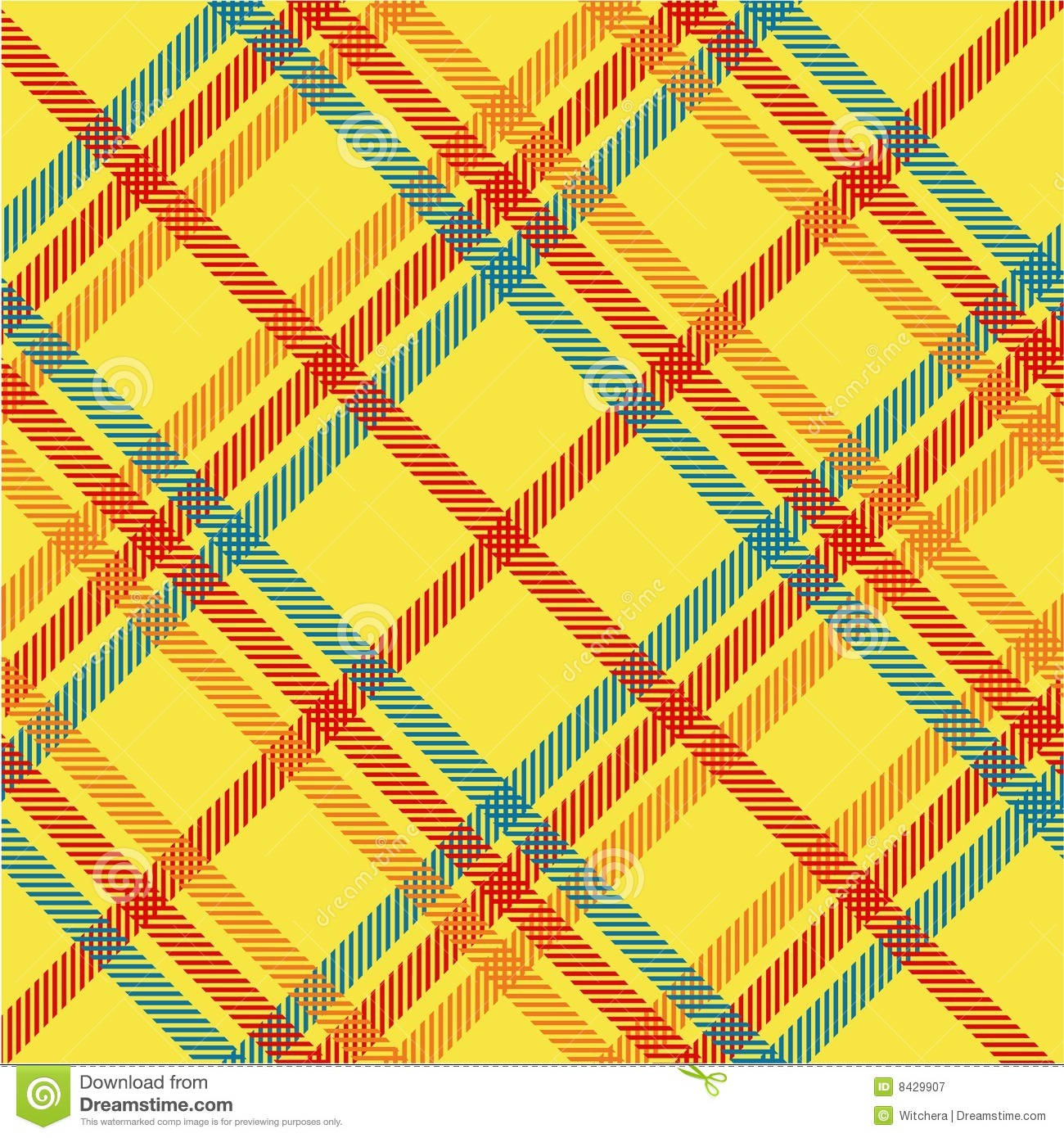 Plaid texture, vector pattern
