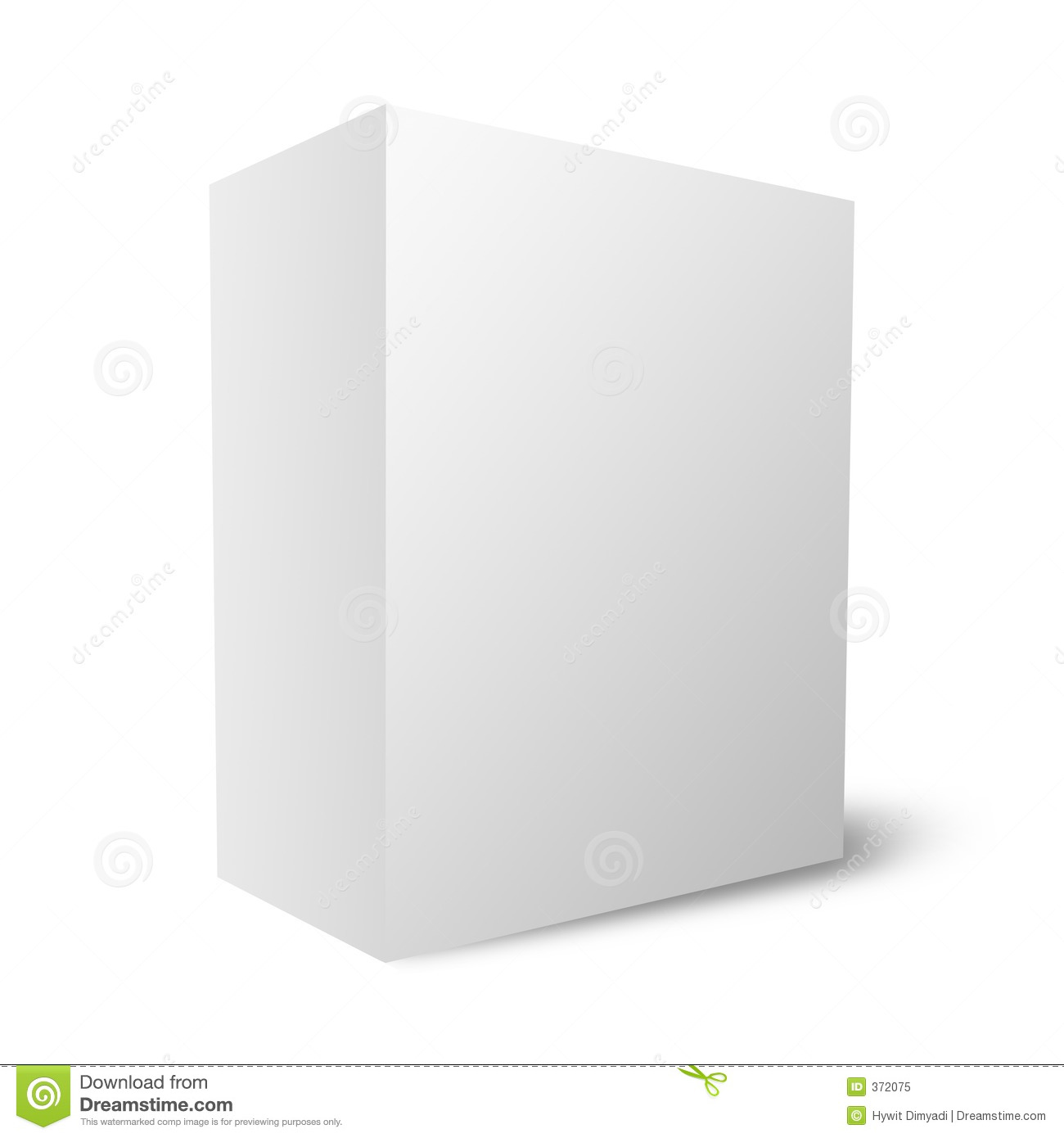 Plain Blank Box 12mb Royalty Free Stock Photo Image