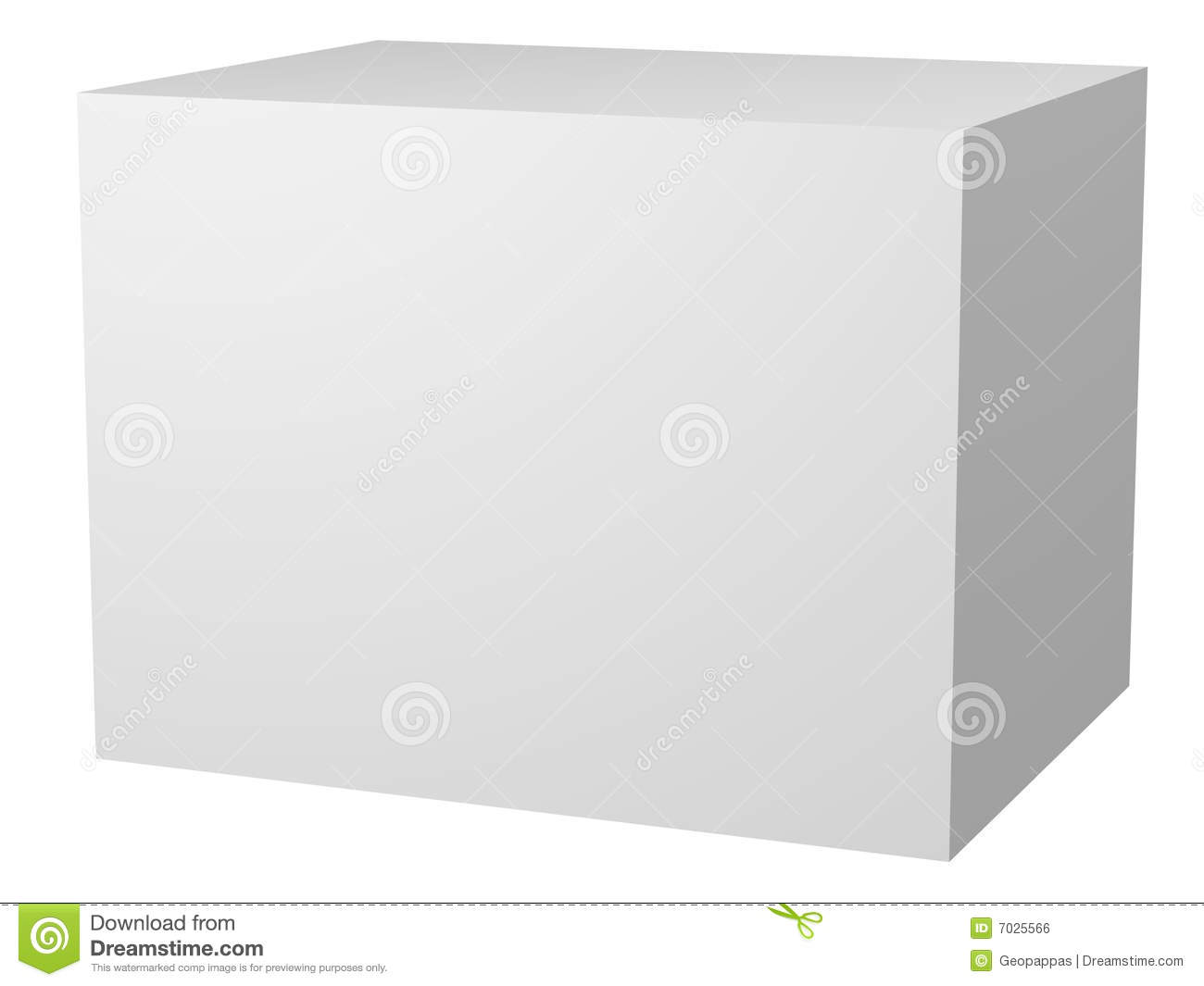Plain Blank White Box Packaging Stock Illustration - Image ...