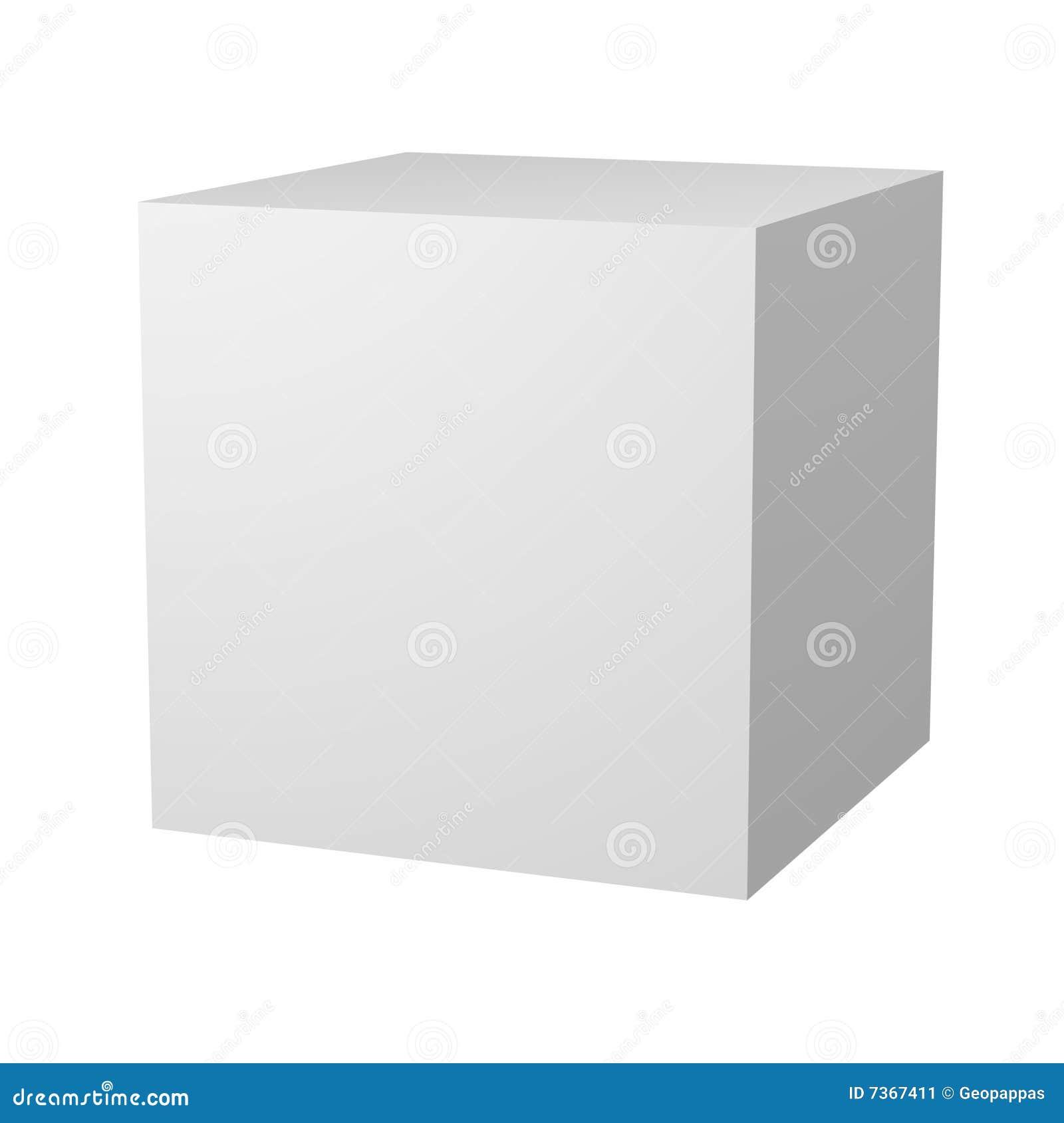 Plain Blank White Box Packaging Stock Illustration ...