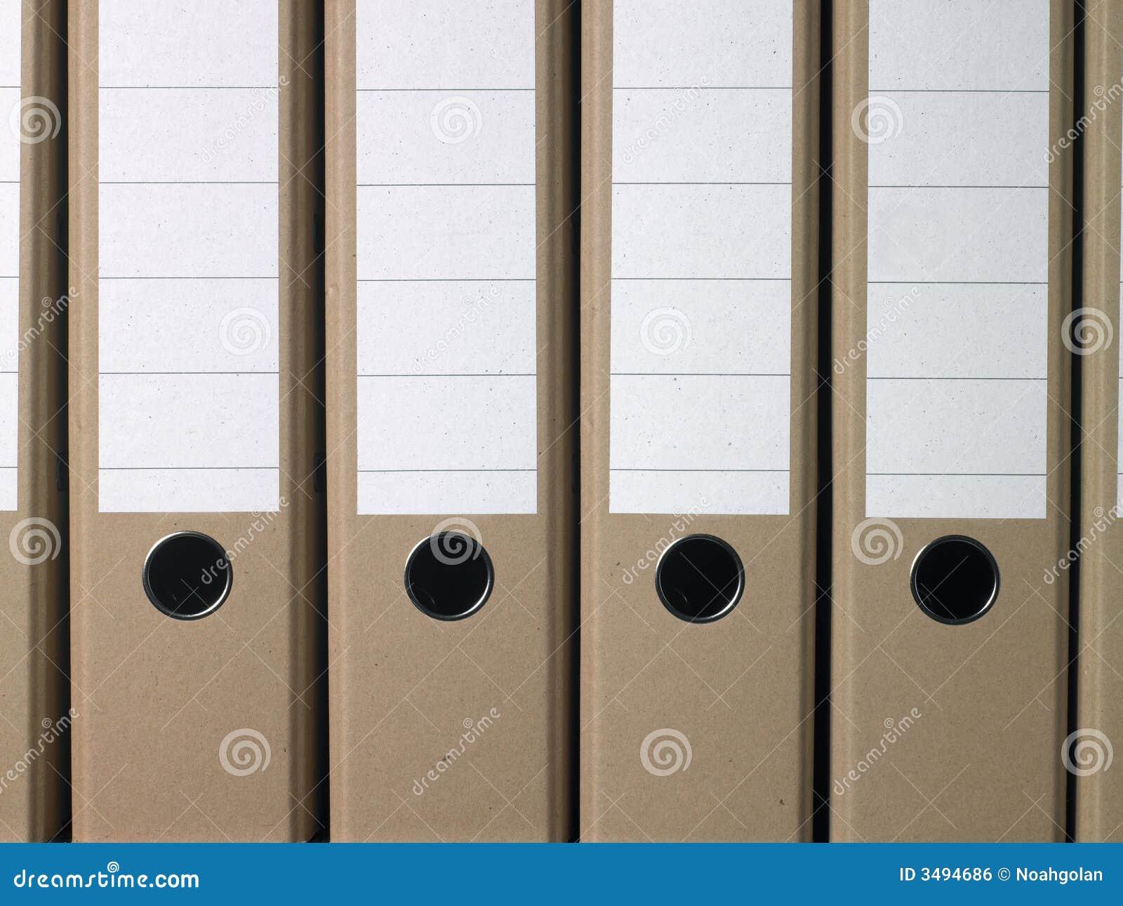 Plain Brown Office Folders Royalty Free Stock Image - Image: 3494686