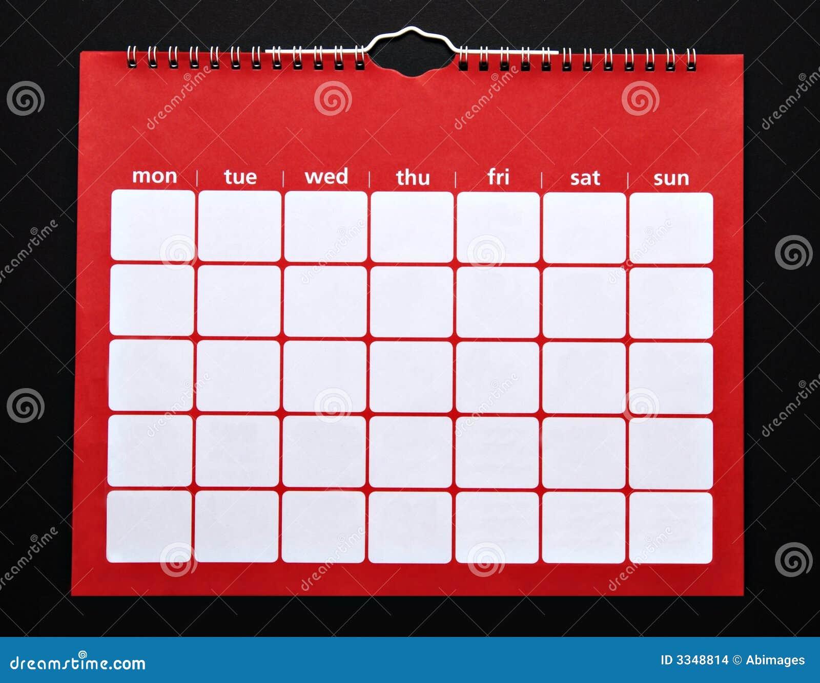 Blank Calendar No Numbers : Plain calendar stock images image