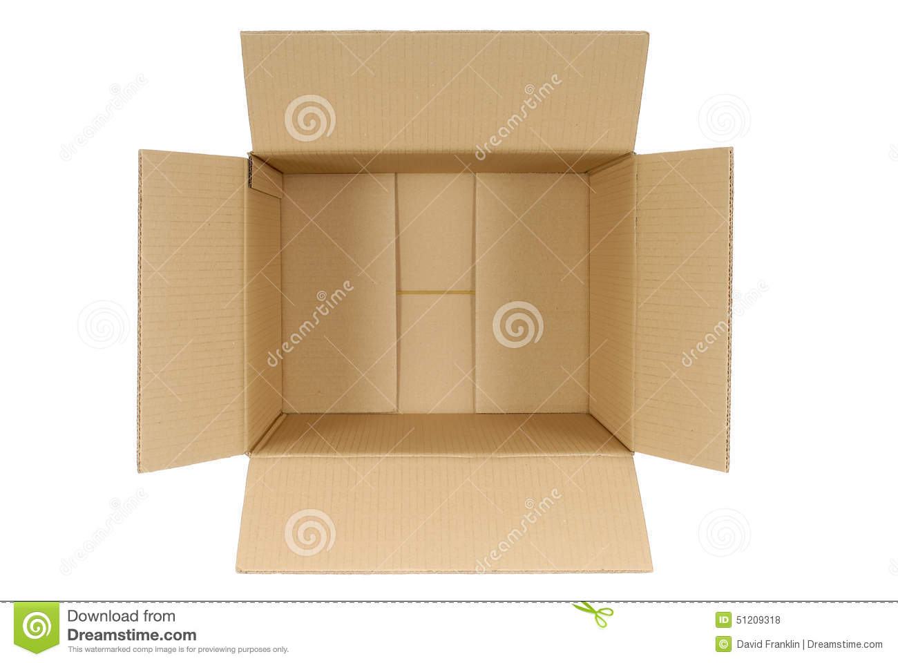 open cardboard box top view inside isolated on white background stock photo image 51209318. Black Bedroom Furniture Sets. Home Design Ideas