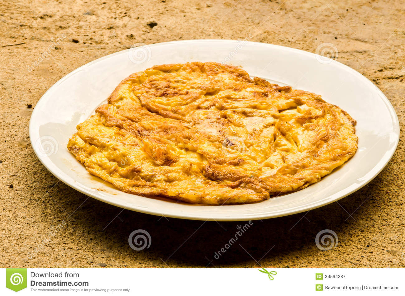 Plain egg omelette stock image. Image of simple, macro ...