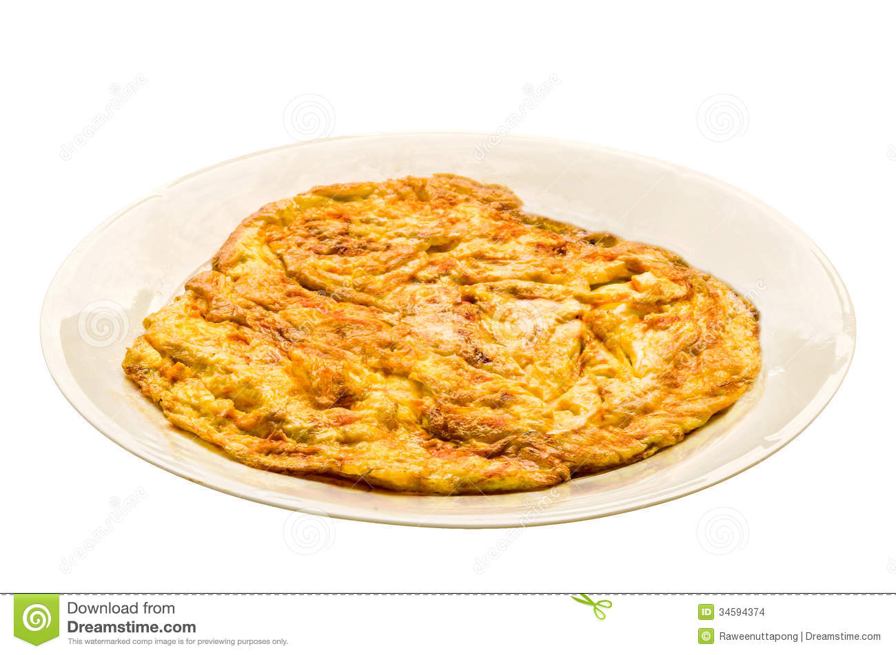 Plain Egg Omelette Stock Images - Image: 34594374