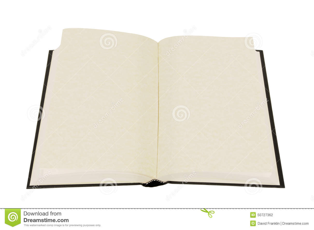 Plain White Book Cover : Opened book with blank pages isolated royalty free stock