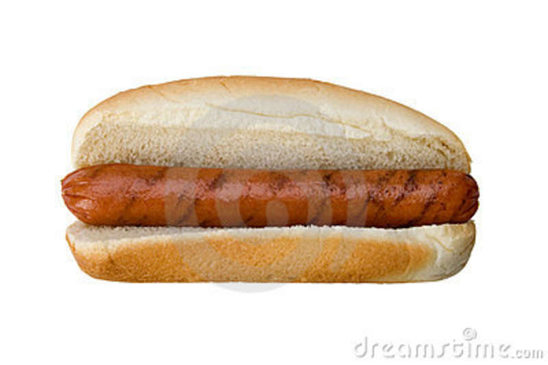 Plain Old Hot Dog And Bun Royalty Free Stock Images ...
