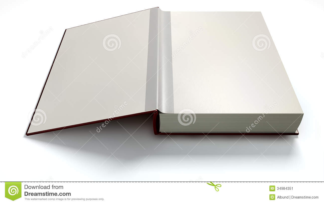 Hardcover Book With Pictures : Plain open book with blank pages stock illustration